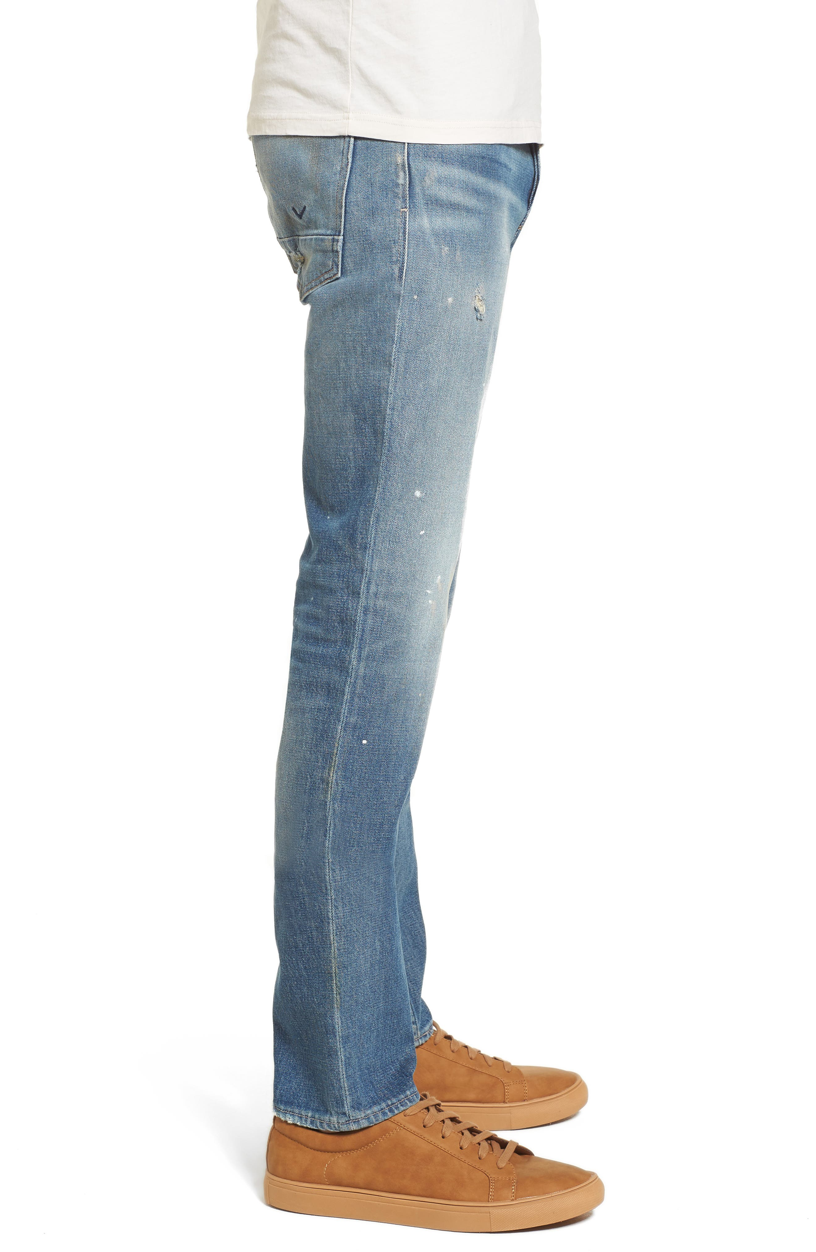 Axl Skinny Fit Jeans,                             Alternate thumbnail 3, color,                             450