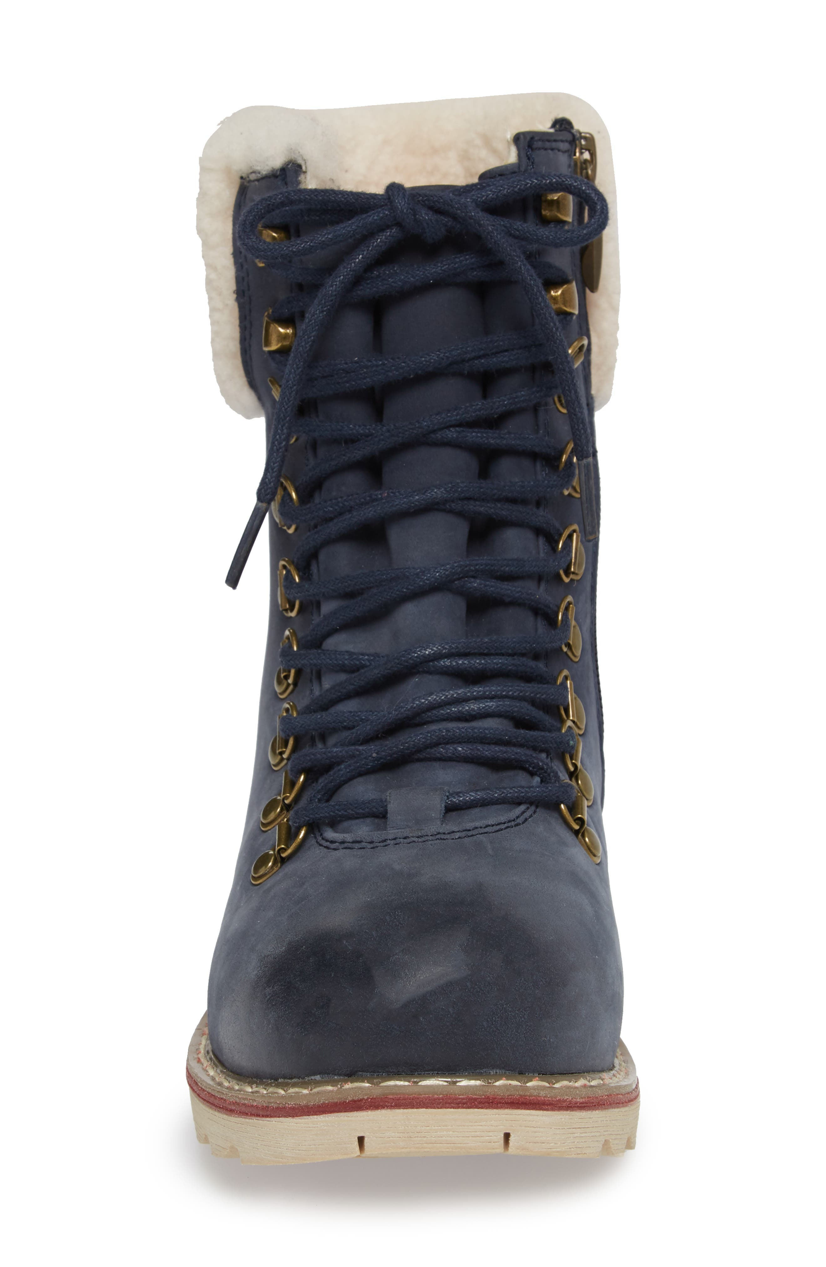 Lethbridge Waterproof Snow Boot with Genuine Shearling Cuff,                             Alternate thumbnail 16, color,