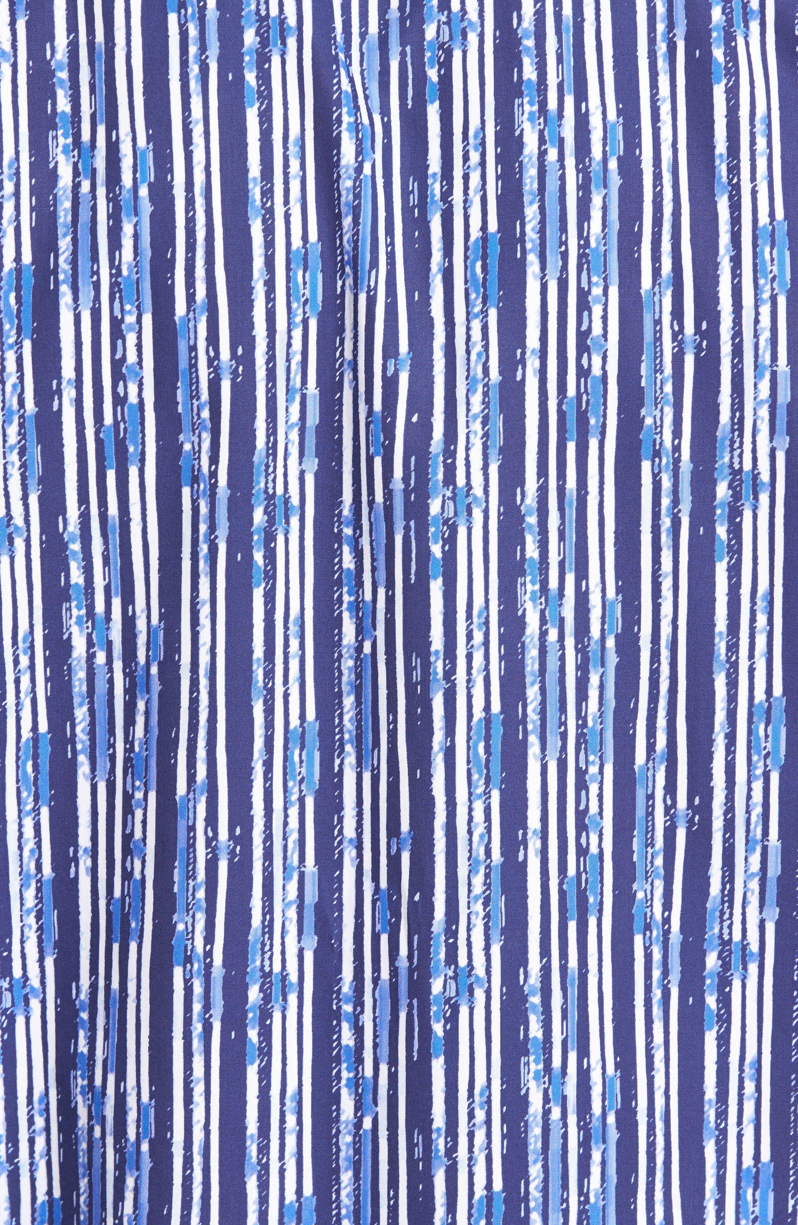 Classic Fit Stripe Print Sport Shirt,                             Alternate thumbnail 5, color,                             411