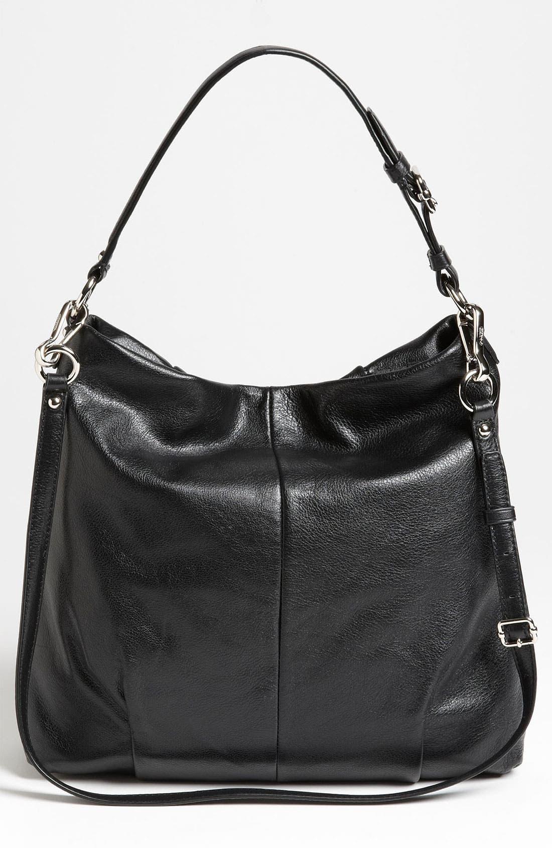 COACH,                             'New Madison - Isabelle' Leather Shoulder Bag,                             Alternate thumbnail 2, color,                             001