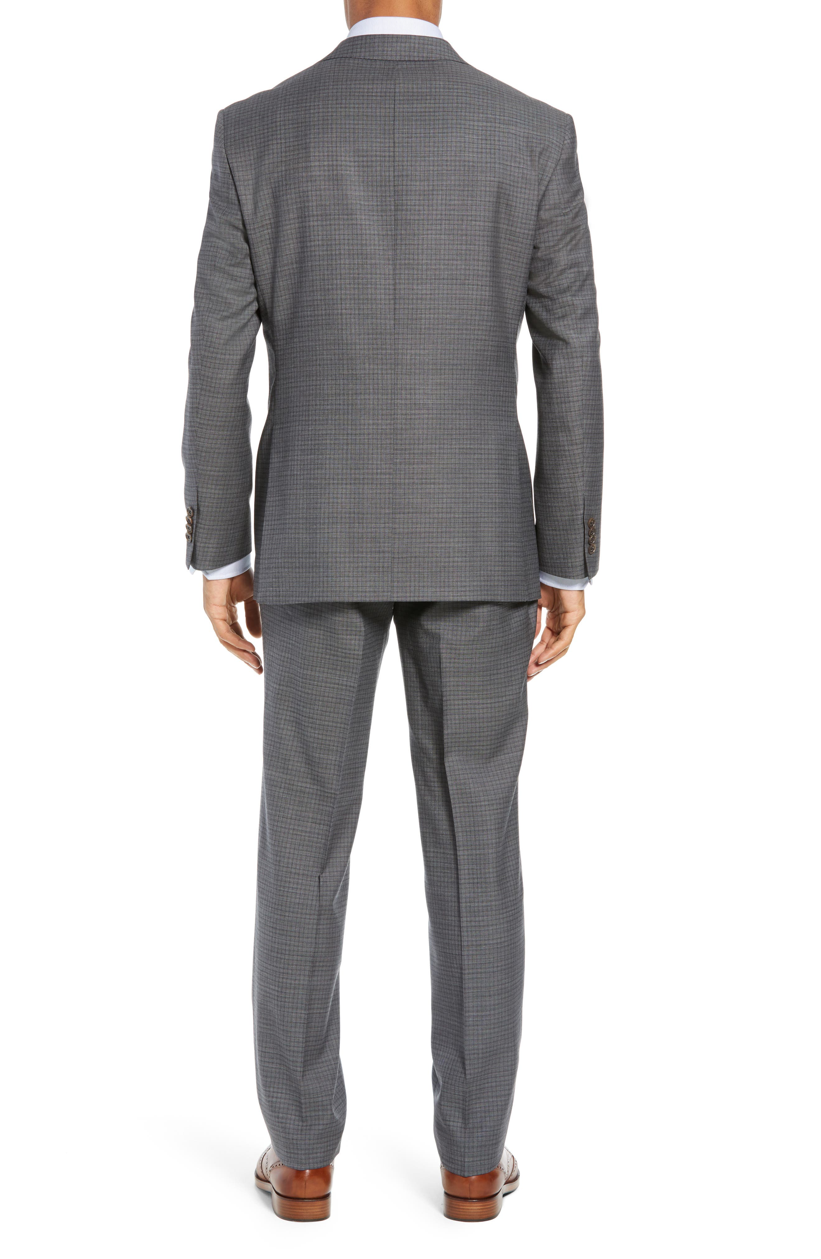Ryan Classic Fit Stretch Check Wool Suit,                             Alternate thumbnail 2, color,                             CHARCOAL