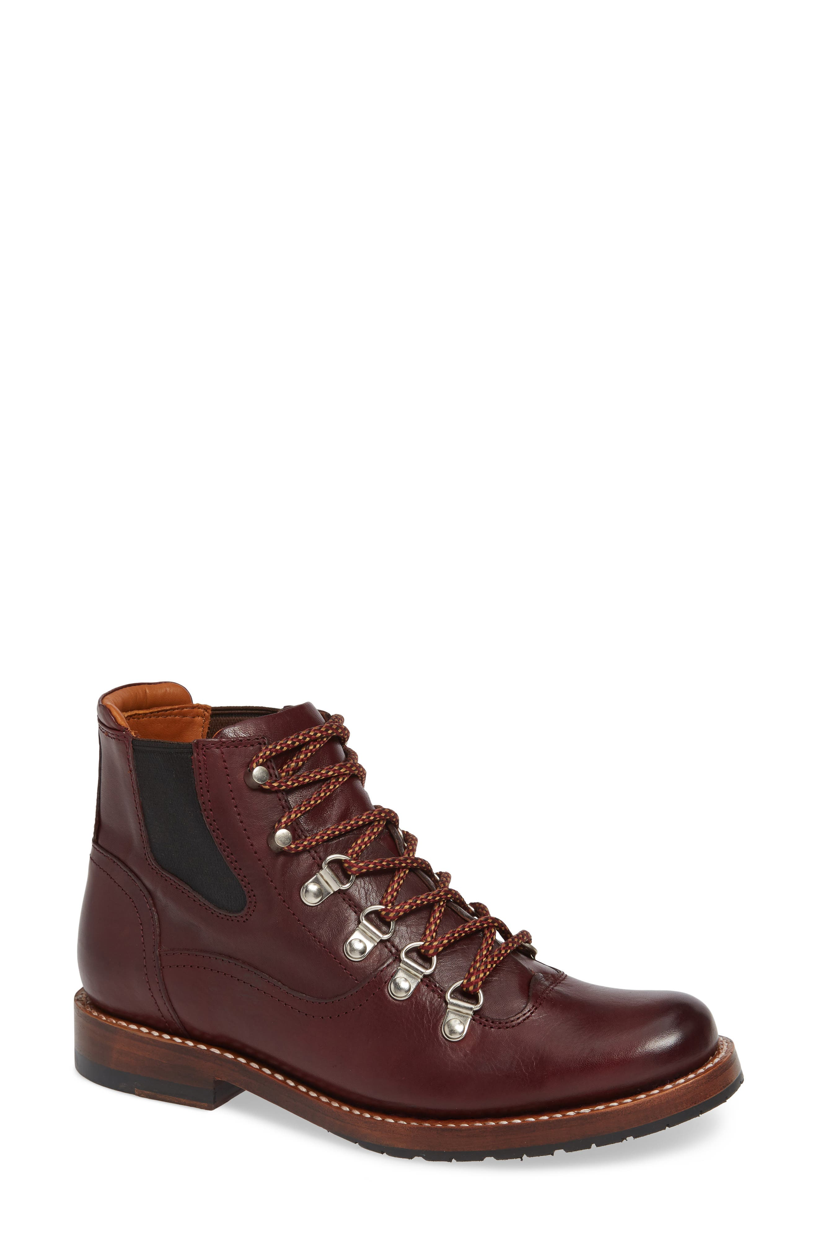 by Ariat Victoria Hiking Bootie,                             Main thumbnail 1, color,                             CORDOVAN LEATHER