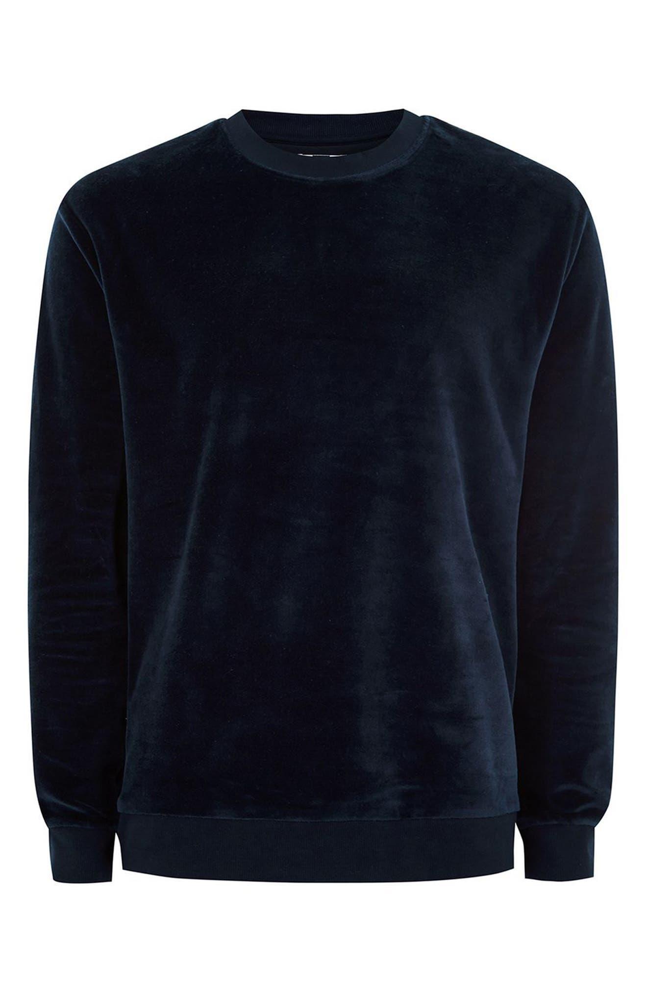 Velour Sweatshirt,                             Alternate thumbnail 4, color,                             401