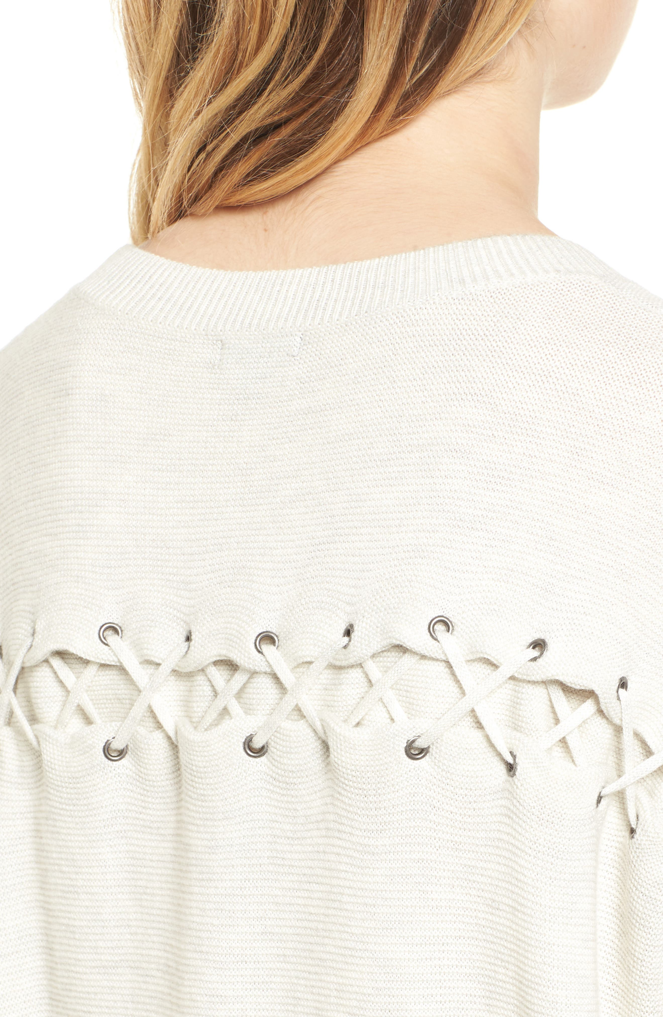 Laced Back Sweater,                             Alternate thumbnail 12, color,