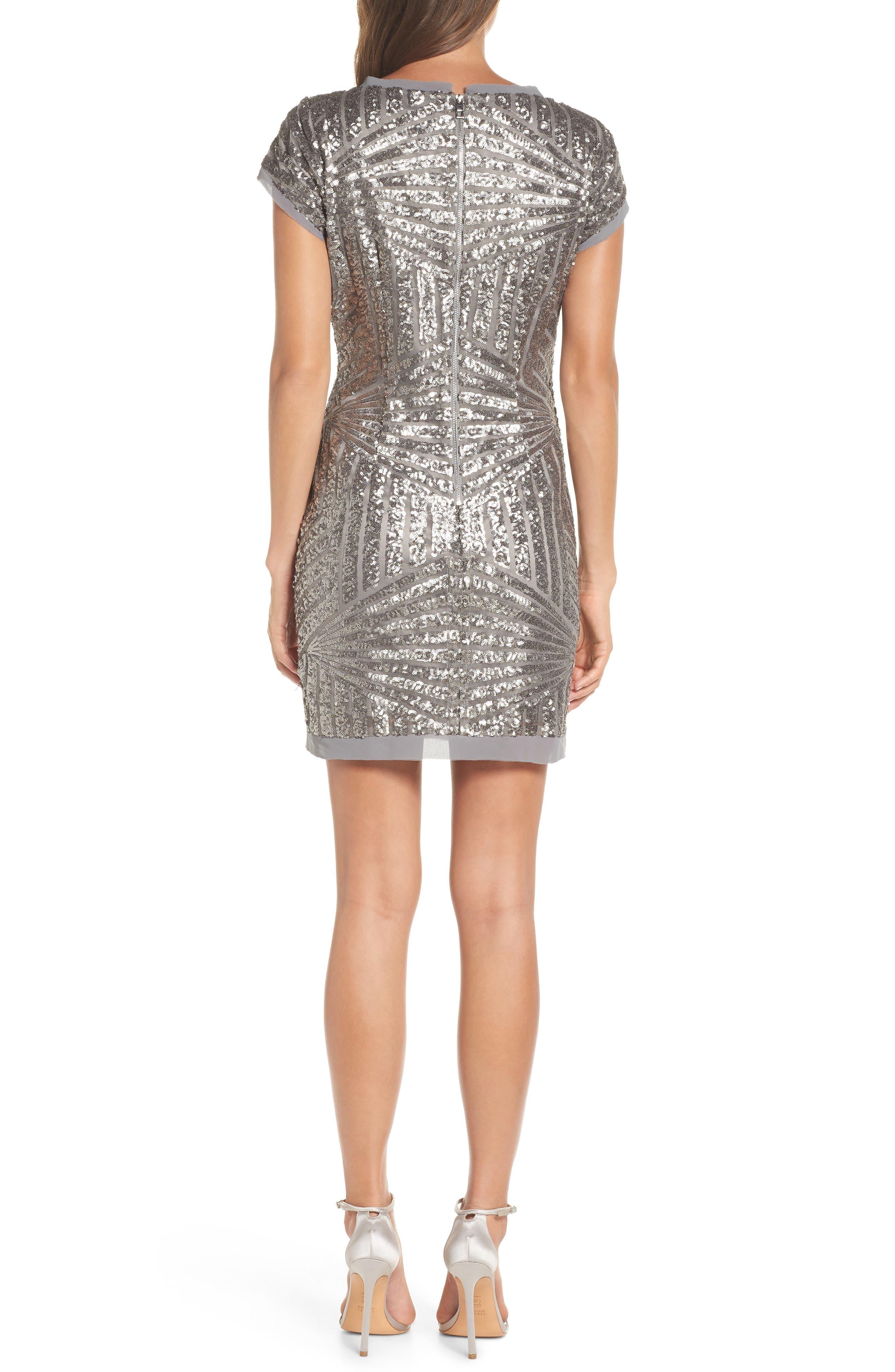 Sequin Embellished Shift Dress,                             Alternate thumbnail 2, color,                             040