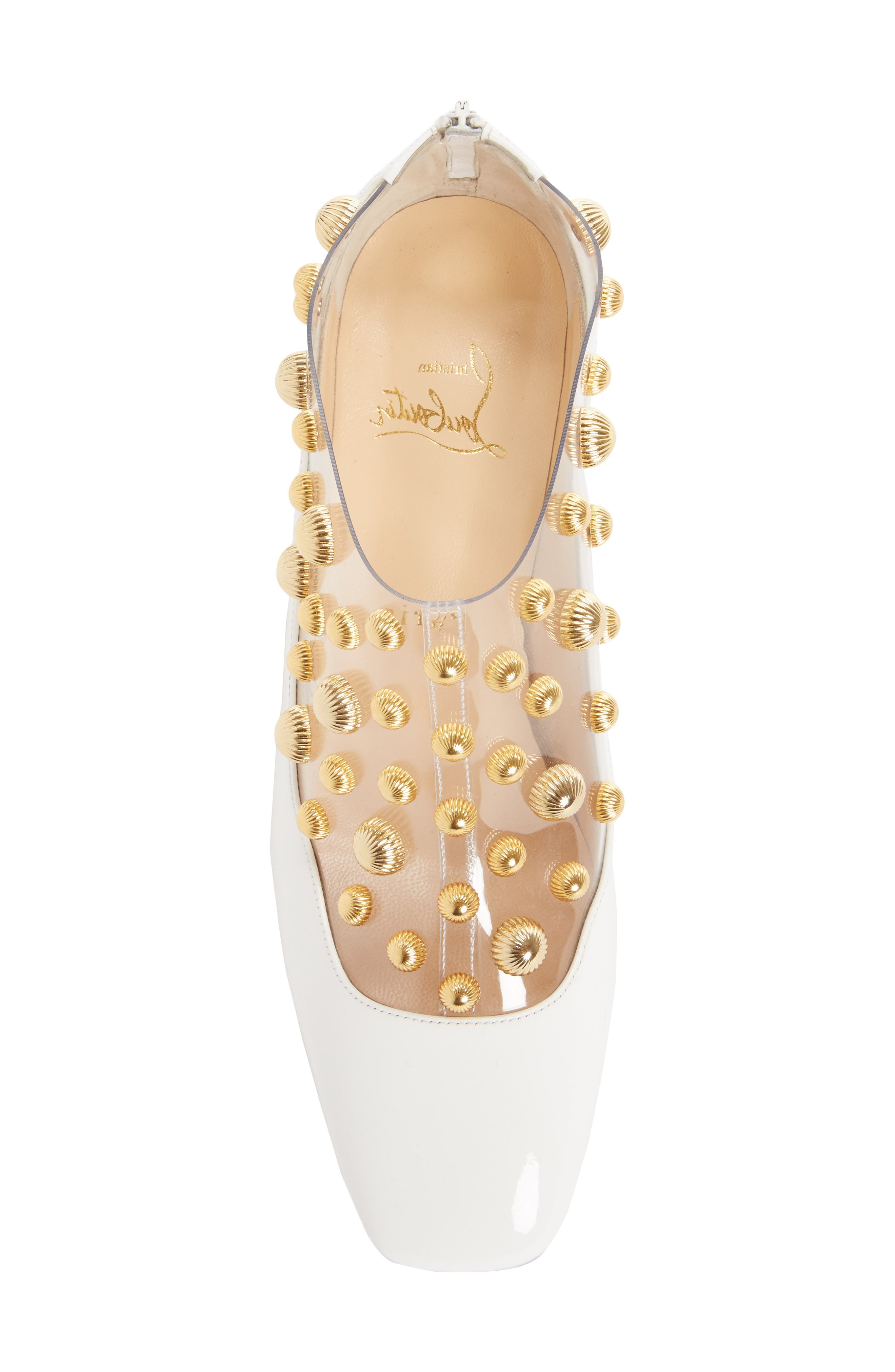Studded Clear Pump,                             Alternate thumbnail 5, color,                             100