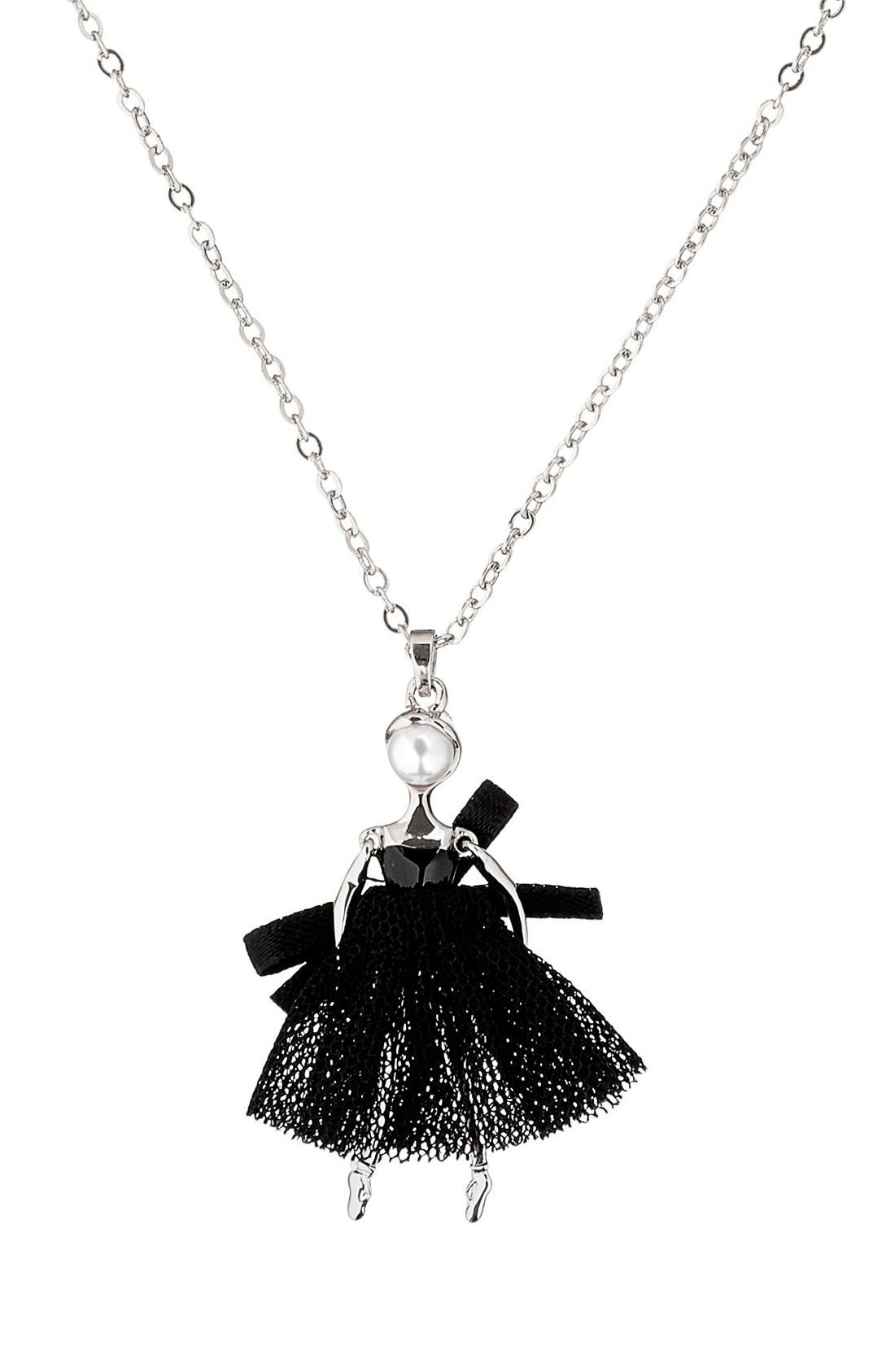 Carabel Ballerina Pendant Necklace,                             Alternate thumbnail 7, color,