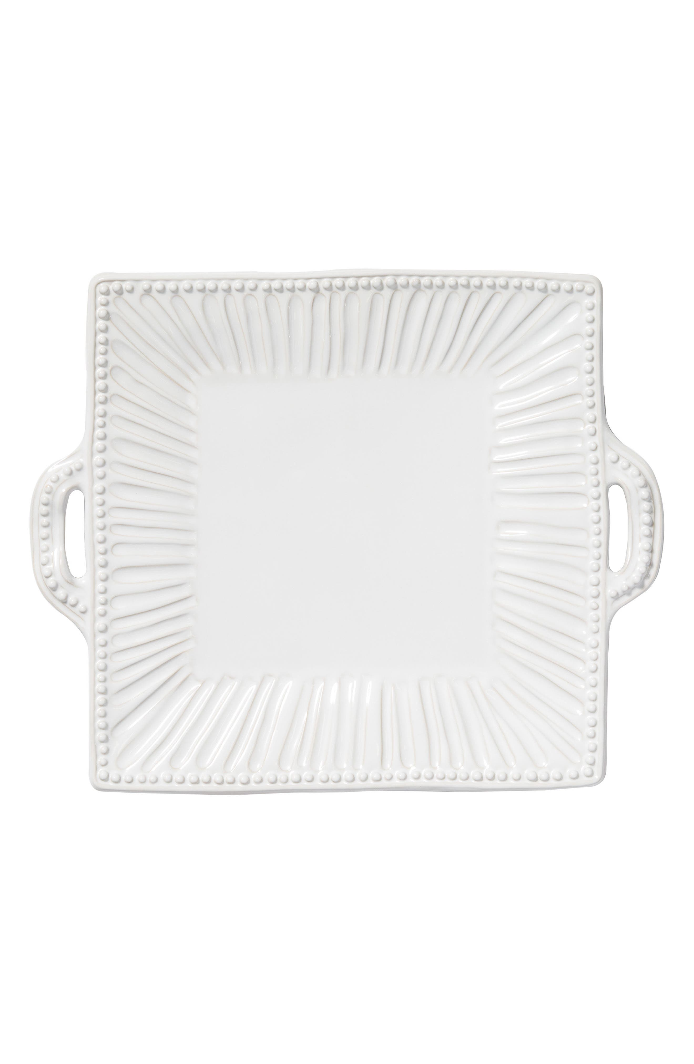 Incanto Stone Stripe Platter,                             Main thumbnail 1, color,                             WHITE