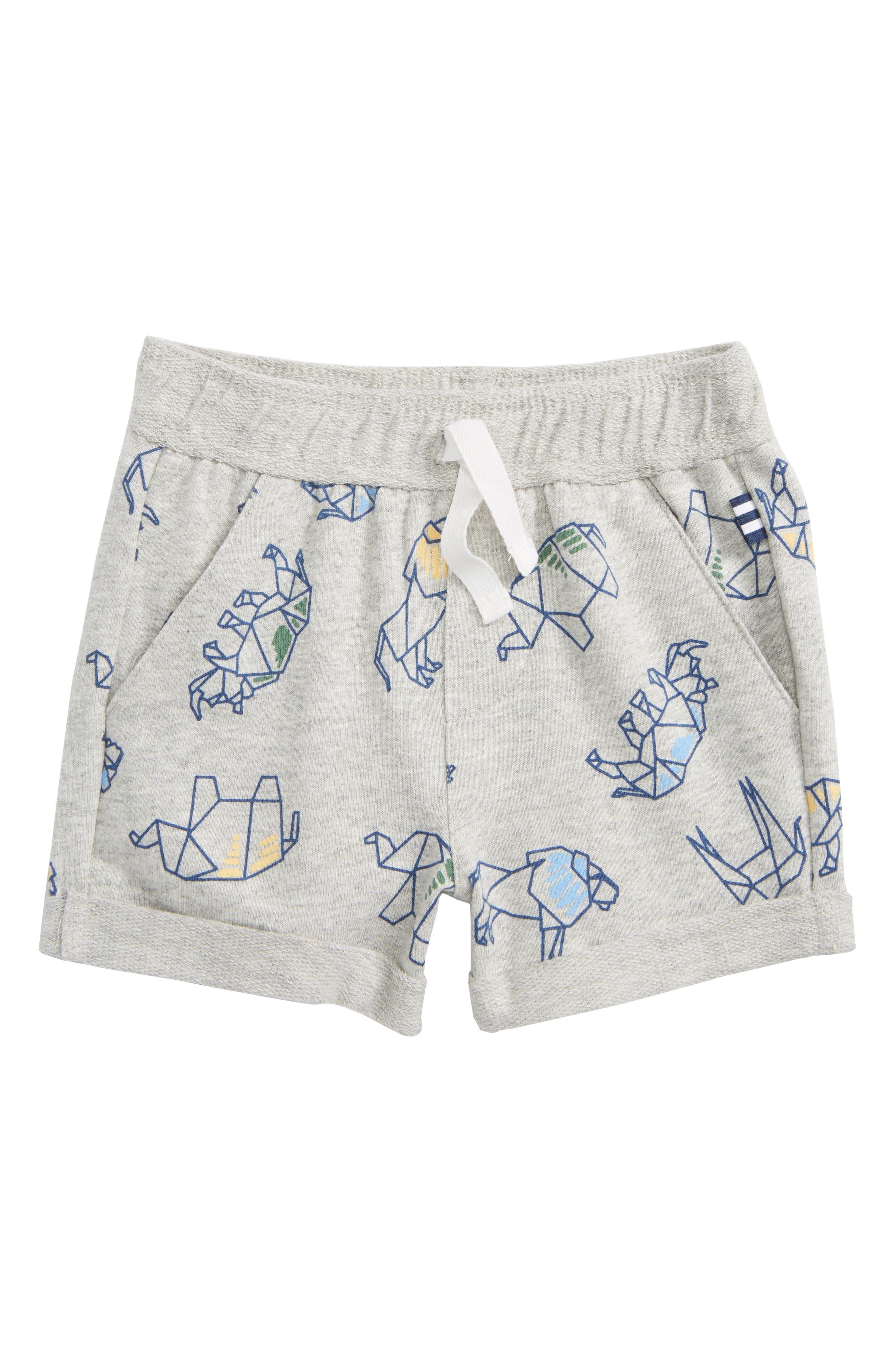 Washed Print Knit Shorts,                             Main thumbnail 1, color,