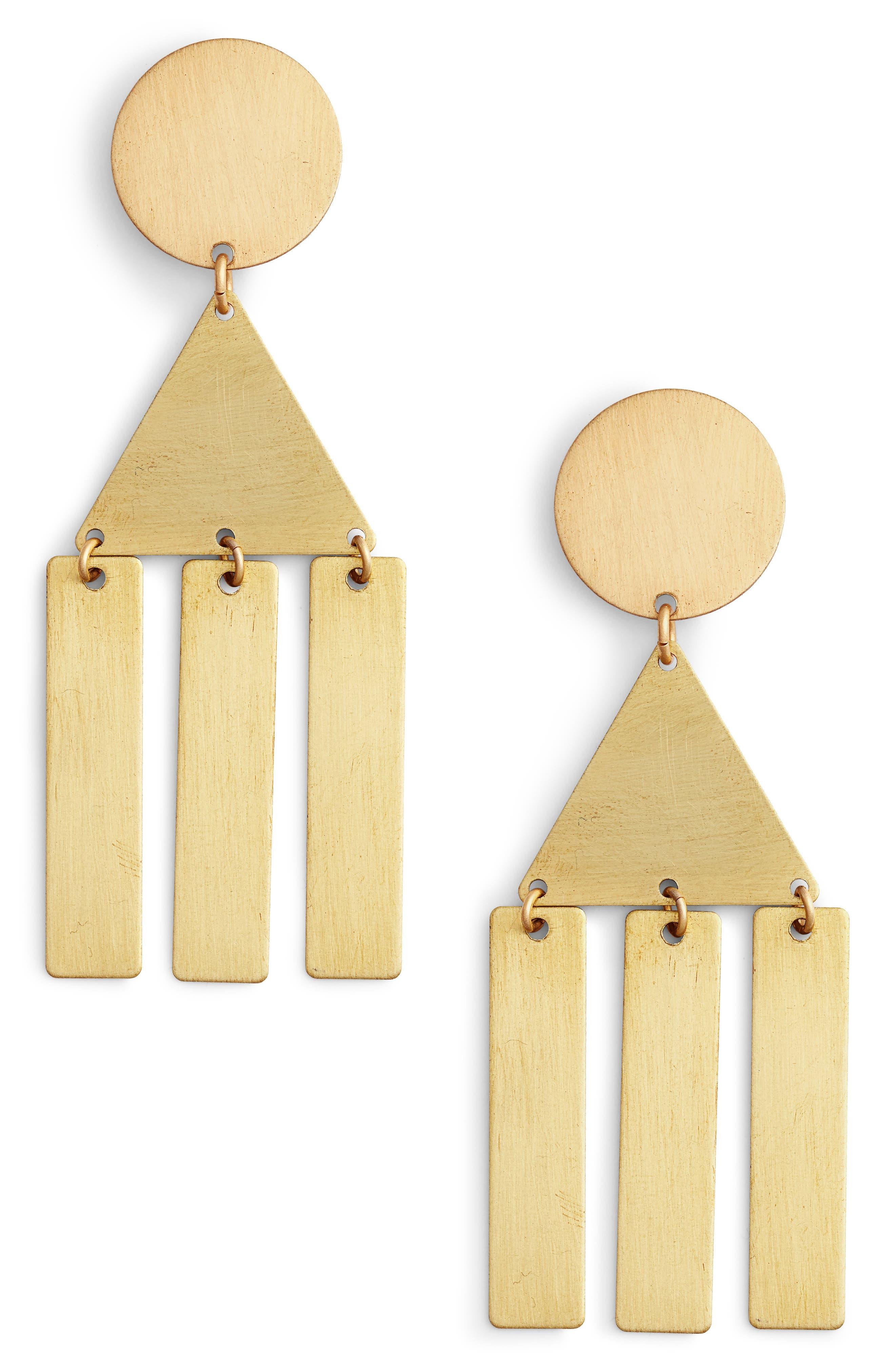 Geometric Fringe Earrings,                             Main thumbnail 1, color,                             710
