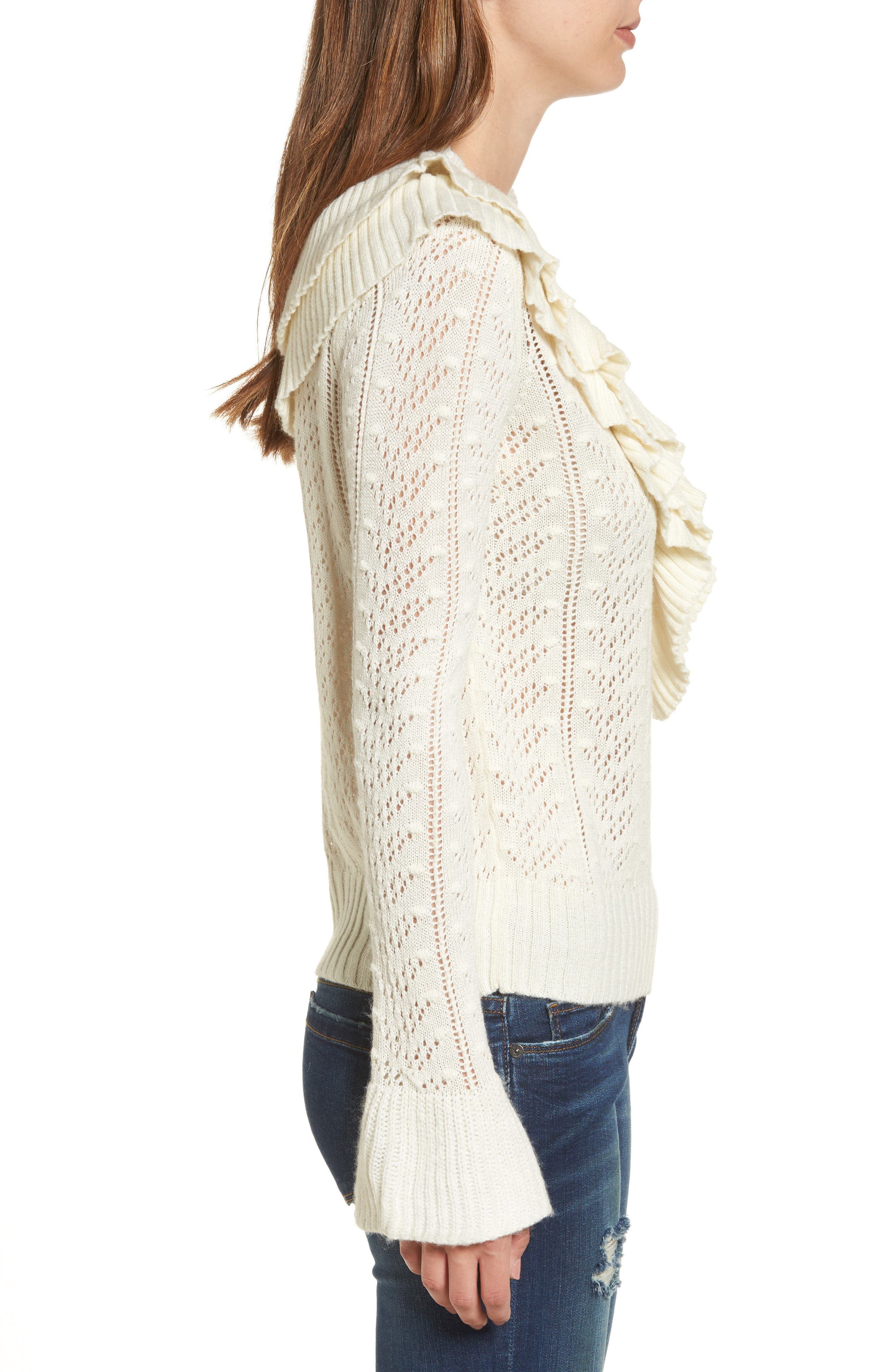 Manny Ruffle Sweater,                             Alternate thumbnail 3, color,                             900