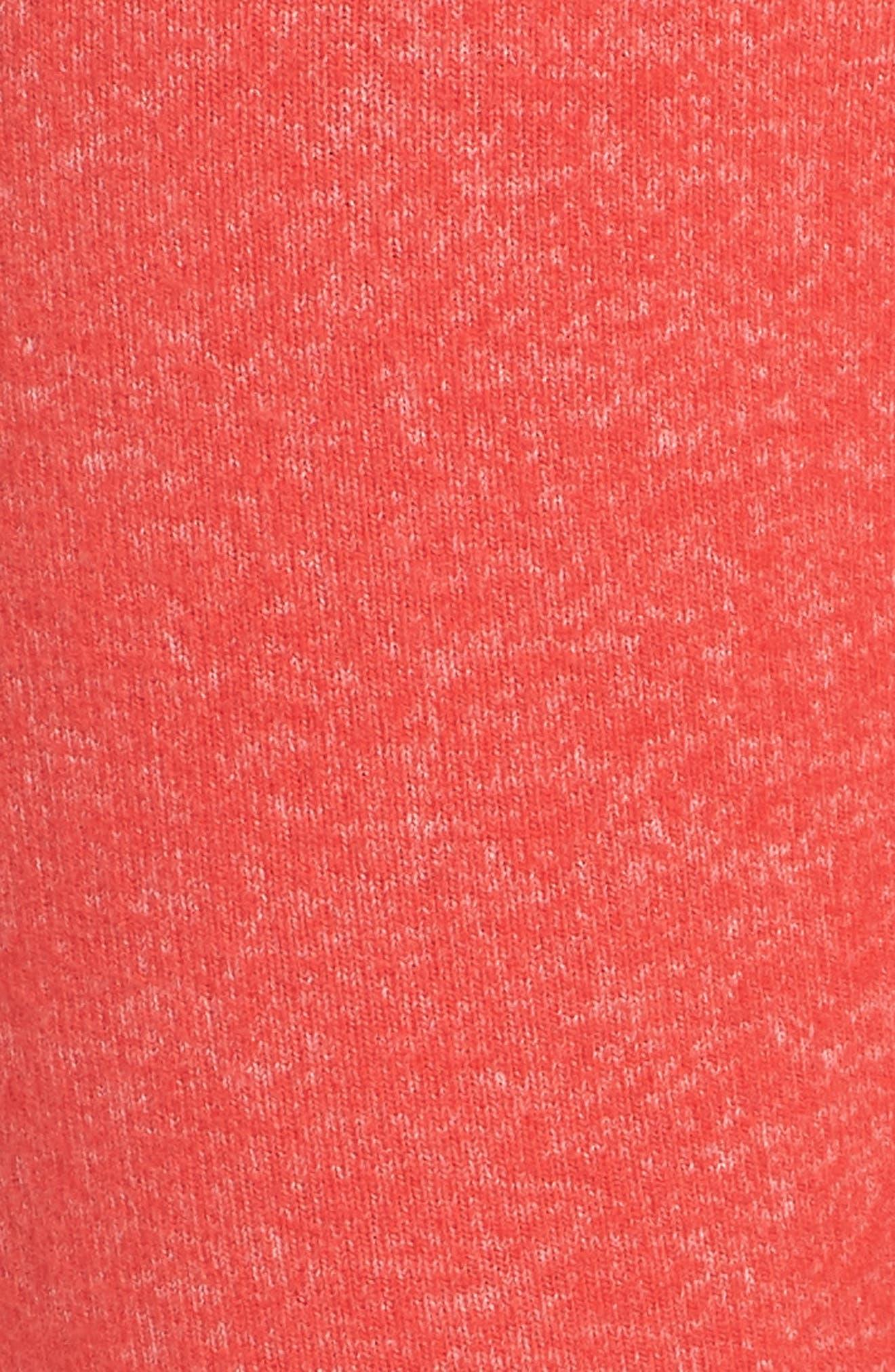 Good Vibes Jogger Pants,                             Alternate thumbnail 5, color,                             RED TOMATO/ IVORY EGRET STRIPE