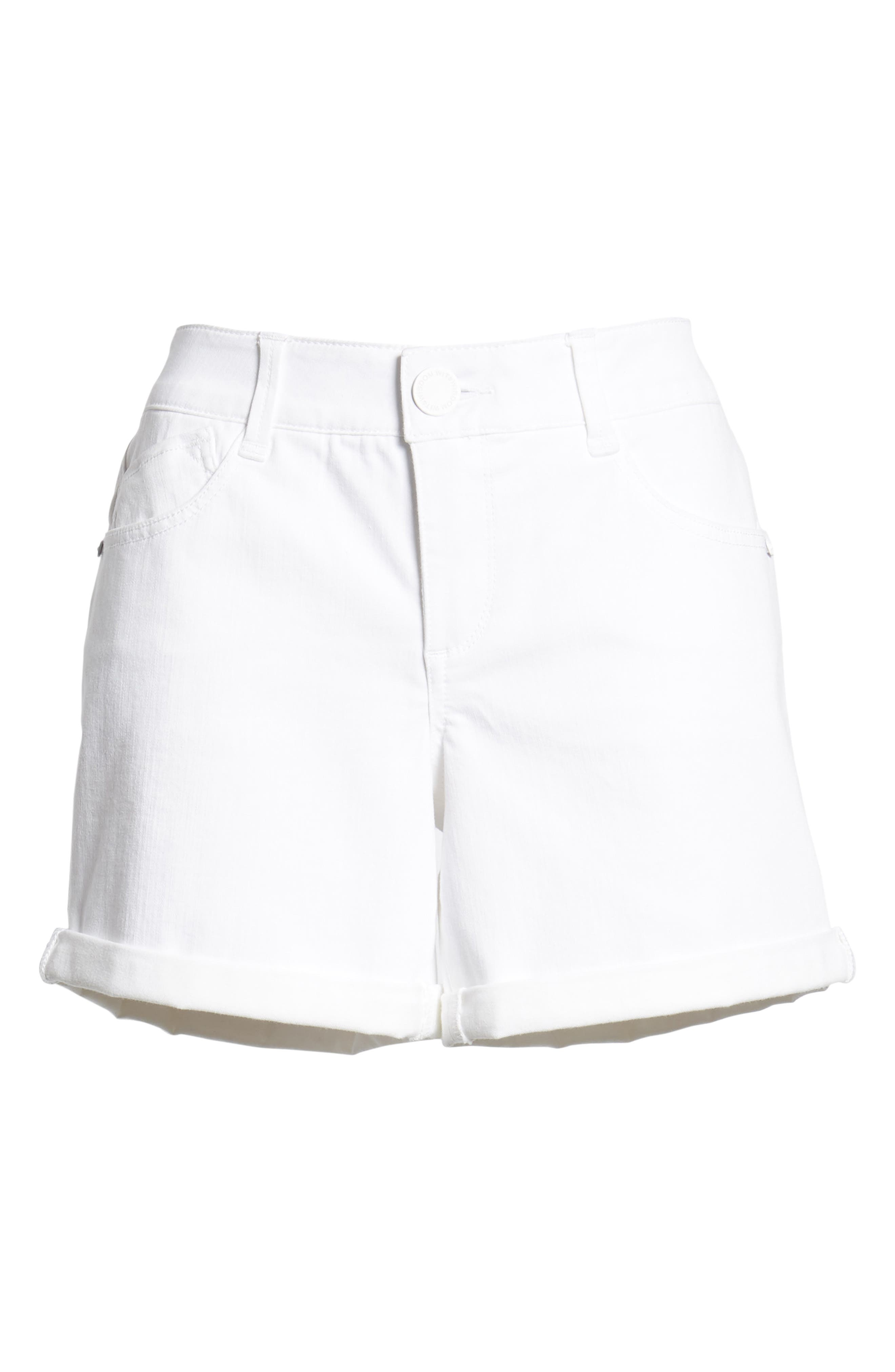 Ab-solution Cuffed White Shorts,                             Alternate thumbnail 7, color,                             106