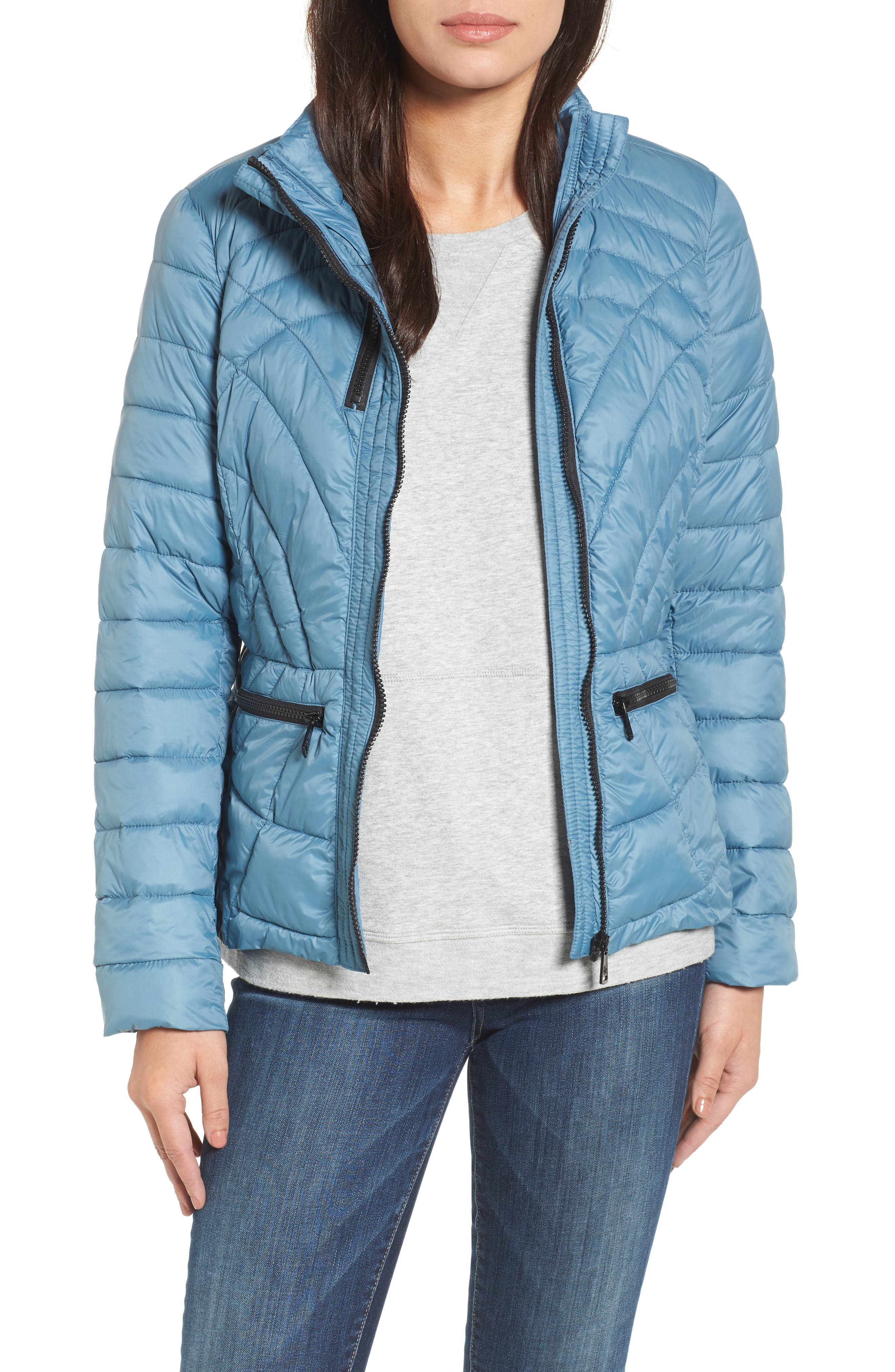 Sporty Water-Resistant Quilted Jacket,                         Main,                         color, 453