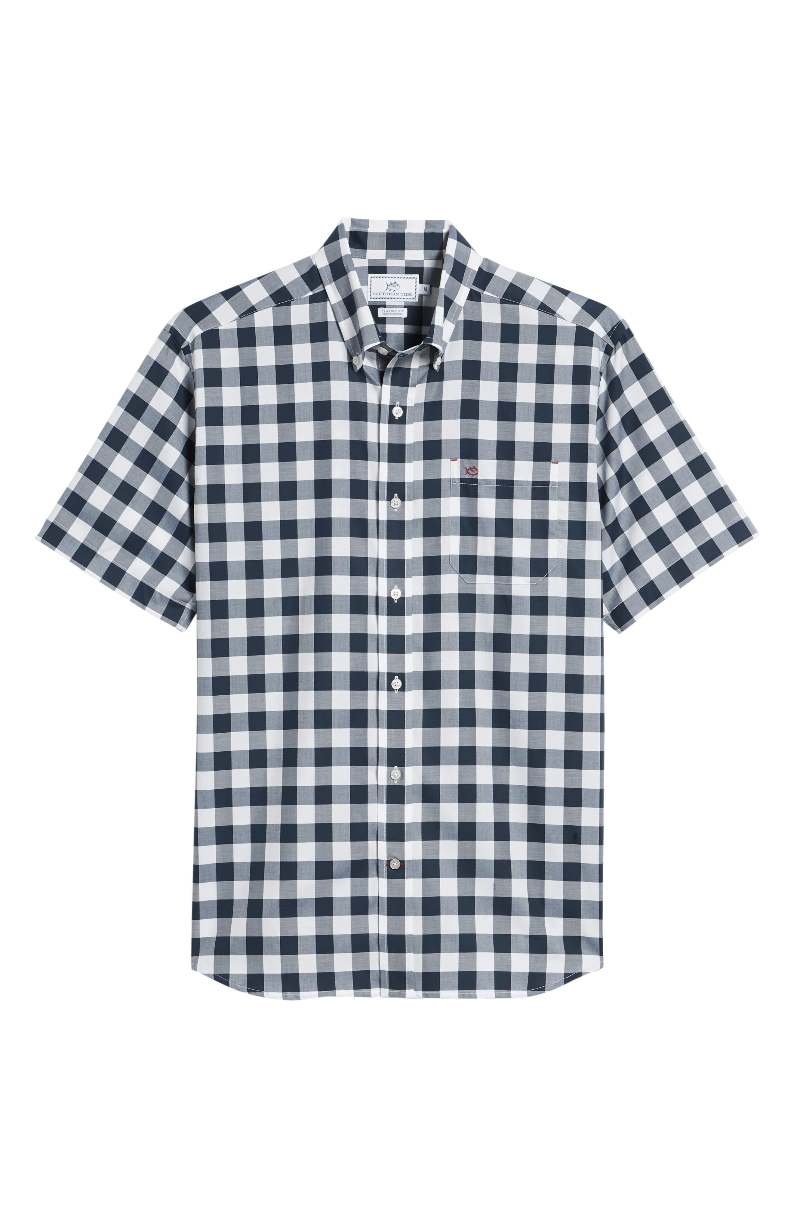 Regular Fit Buffalo Check Sport Shirt,                             Alternate thumbnail 6, color,                             422