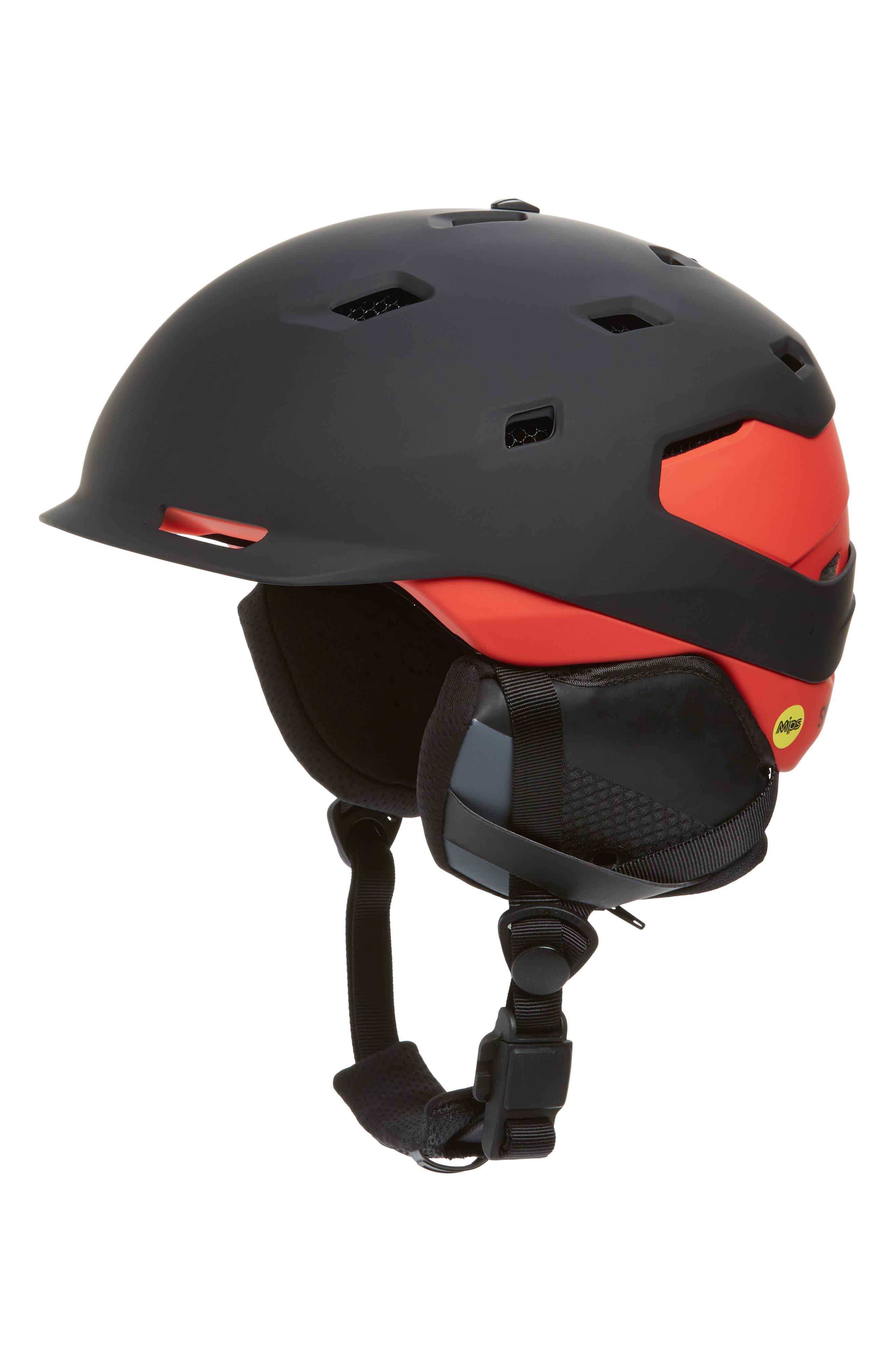 Quantum MIPS Snow Helmet,                             Main thumbnail 1, color,                             MATTE BLACK / RISE