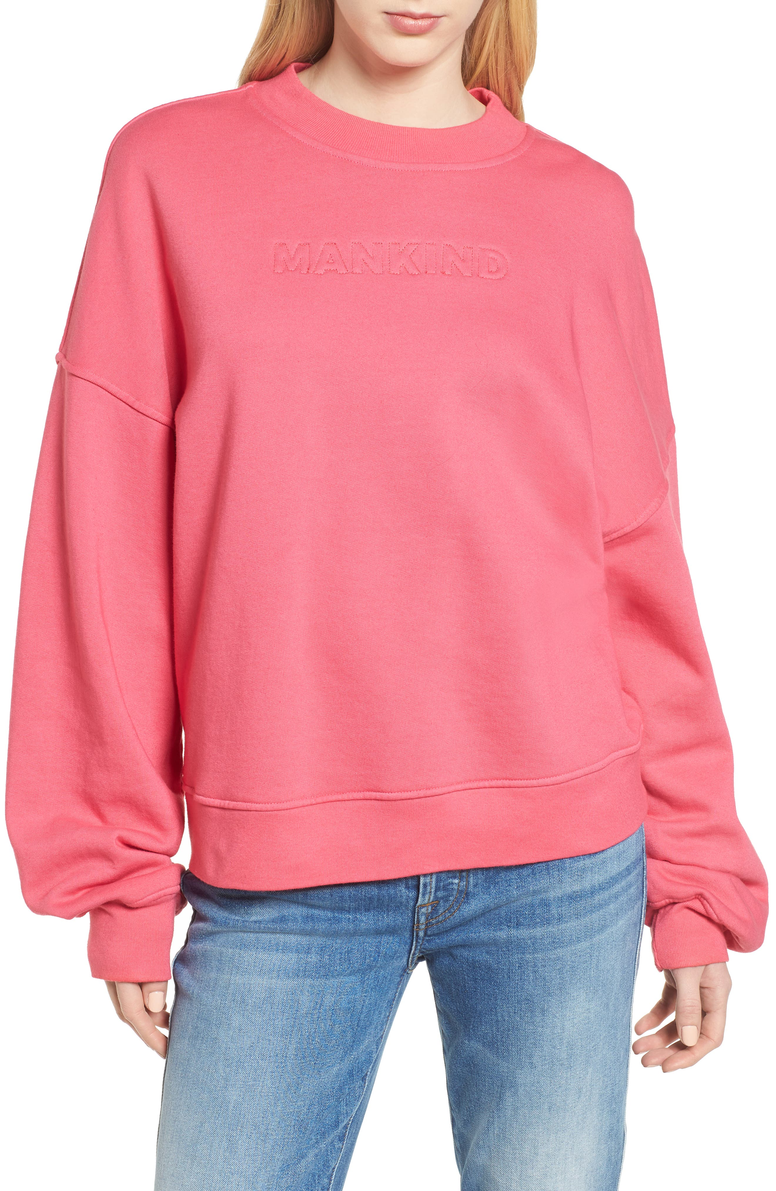Mankind Outline Embroidered Sweatshirt,                             Main thumbnail 1, color,