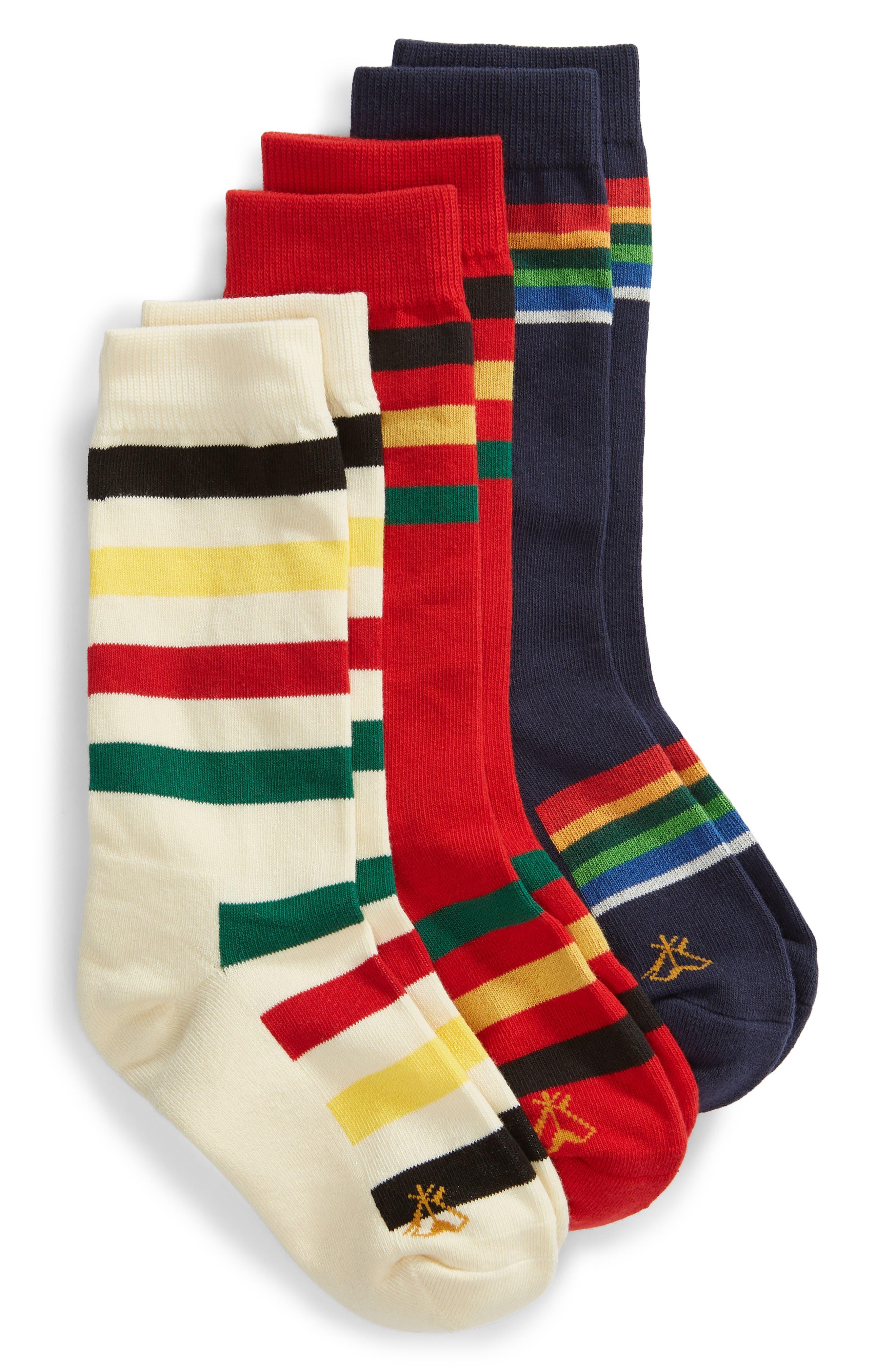 PENDLETON National Park 3-Pack Crew Socks in Assorted Bright