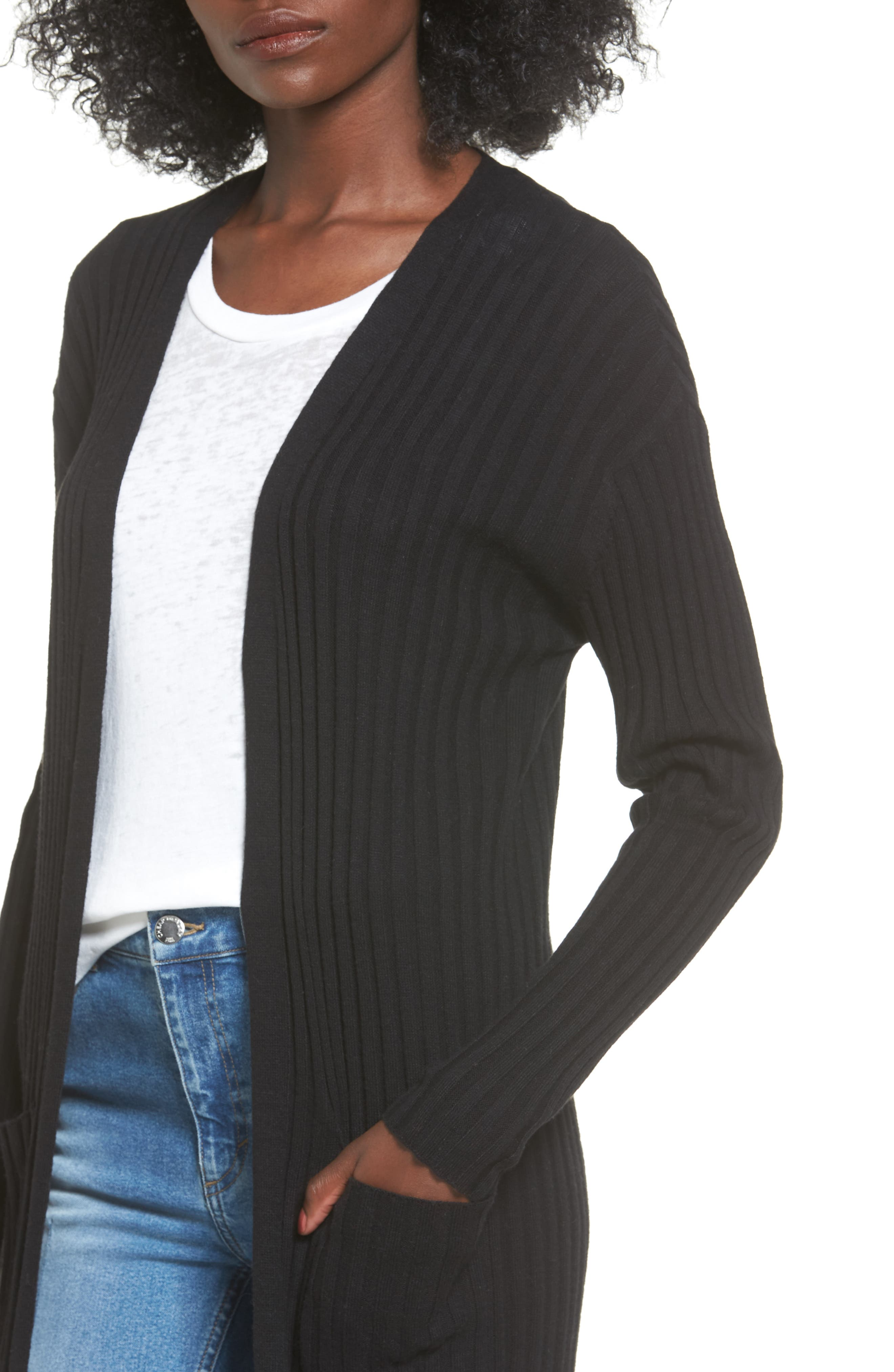 Rib Knit Midi Cardigan,                             Alternate thumbnail 11, color,