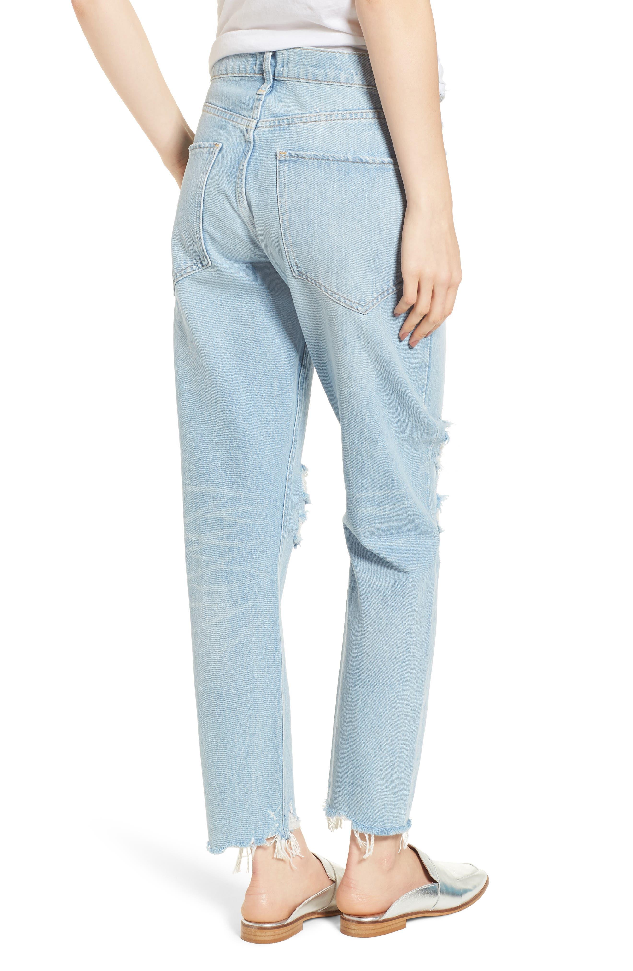 Jamie High Waist Ankle Jeans,                             Alternate thumbnail 2, color,                             453