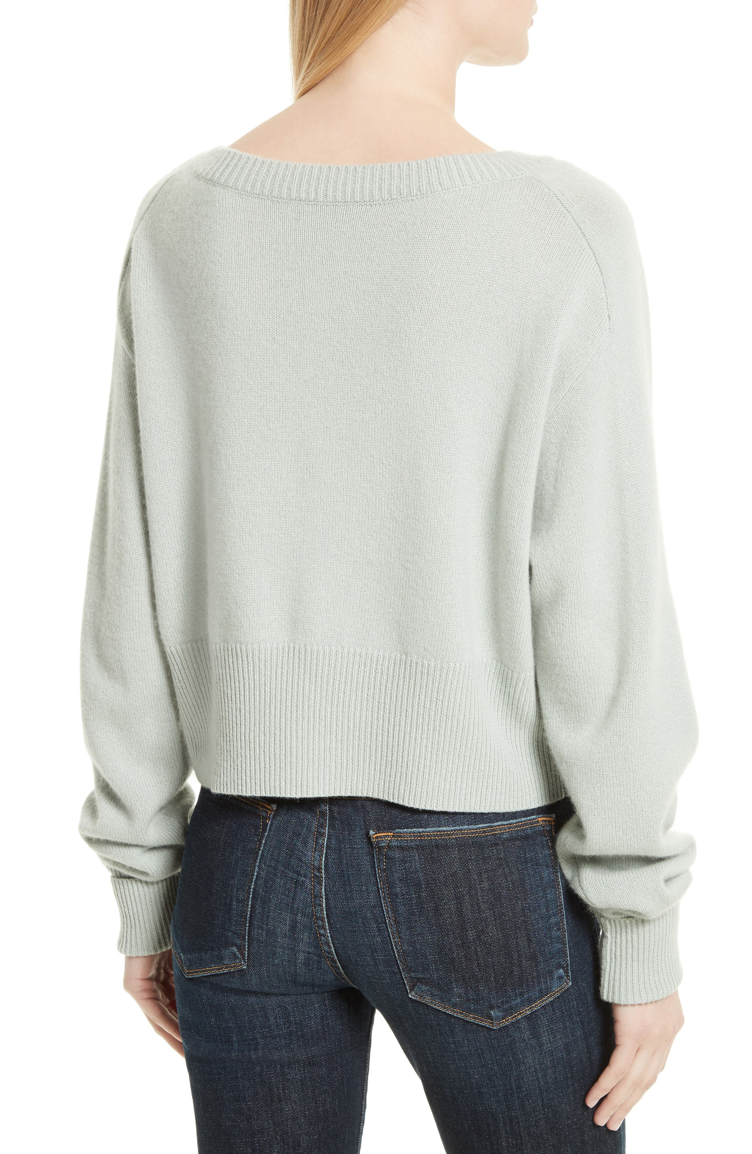 THEORY,                             Boat Neck Cashmere Sweater,                             Alternate thumbnail 2, color,                             374