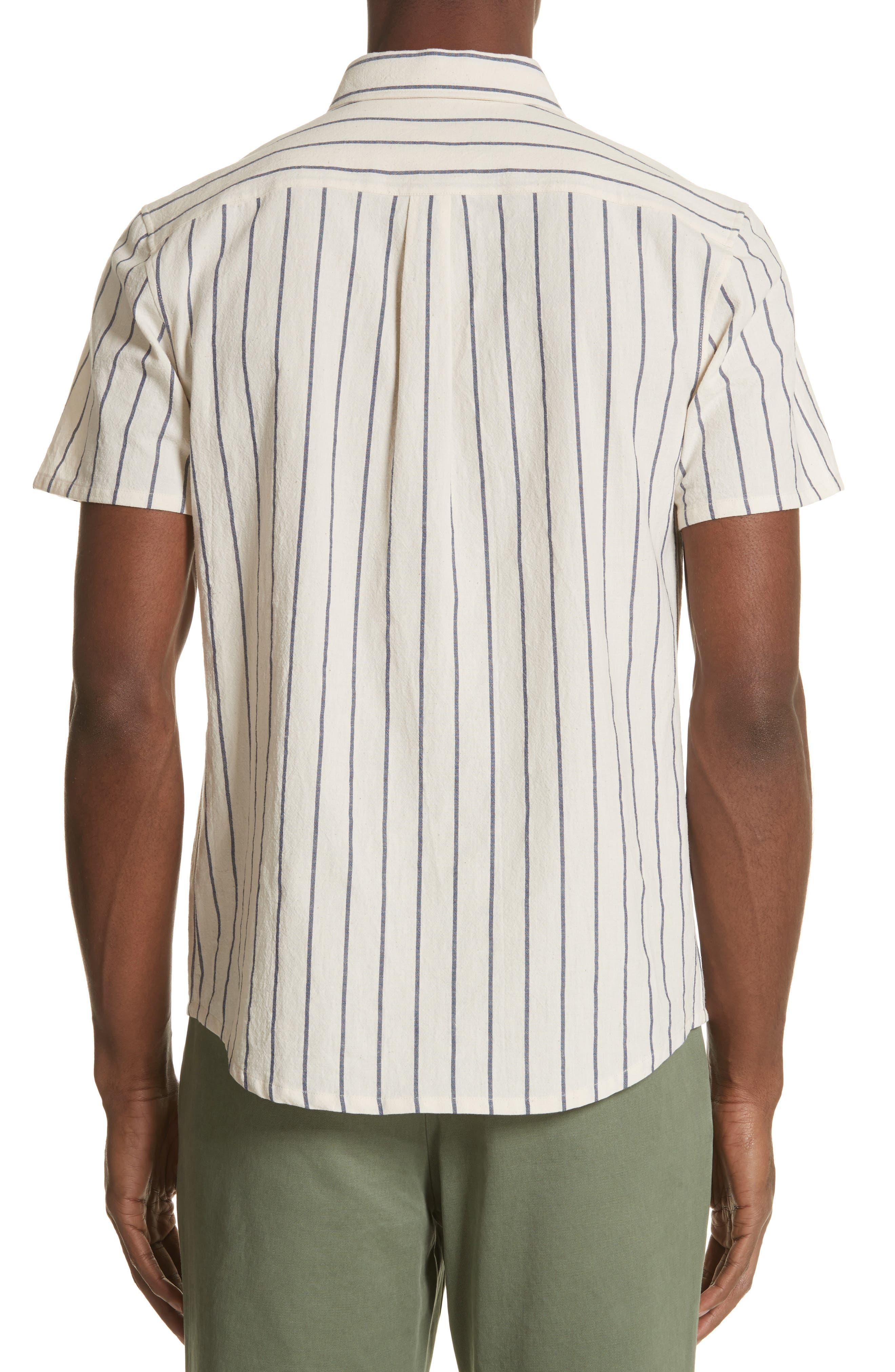 Bryan Stripe Woven Shirt,                             Alternate thumbnail 2, color,                             ECRU