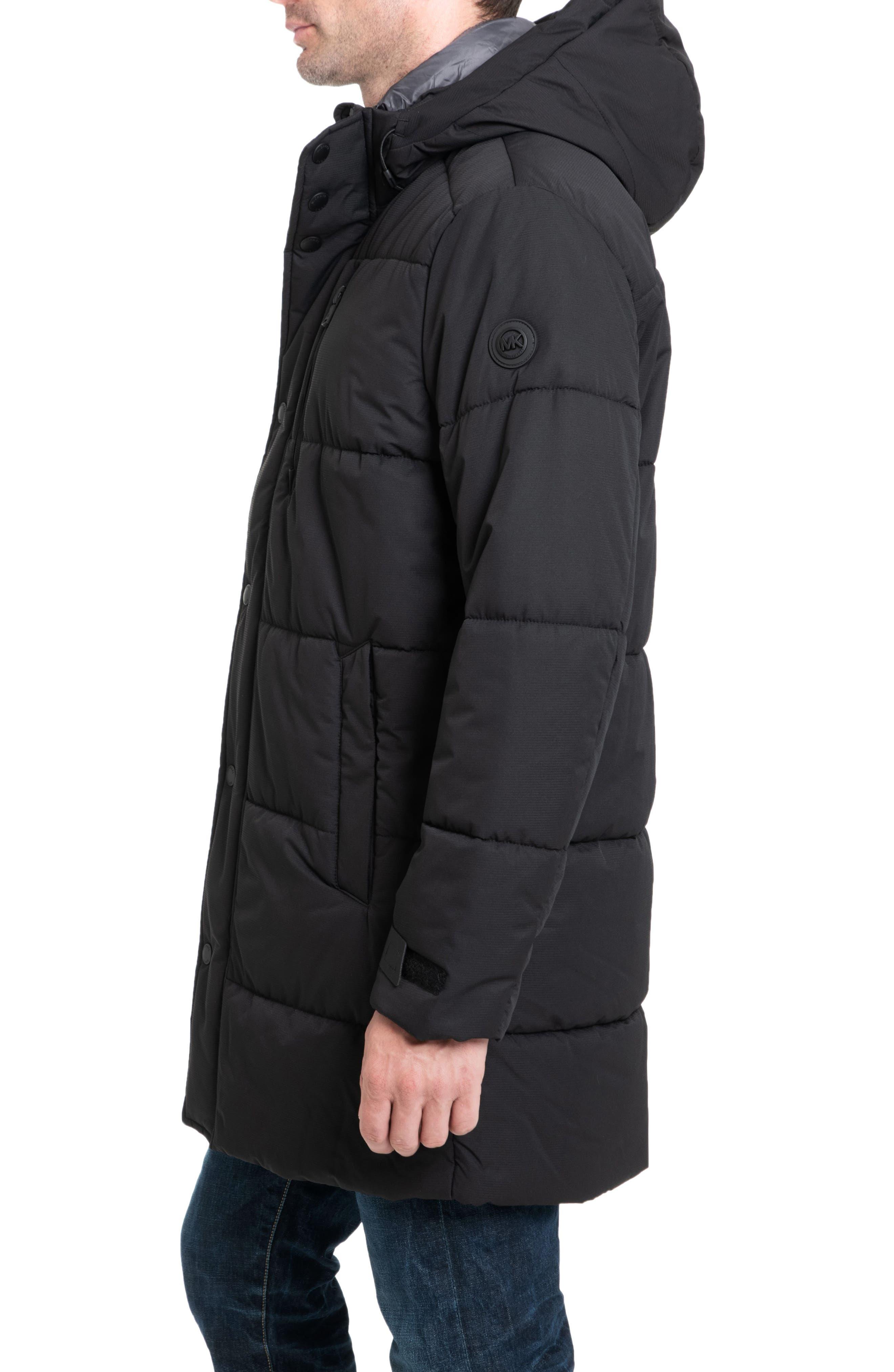 Holland Hooded Coat,                             Alternate thumbnail 3, color,                             BLACK