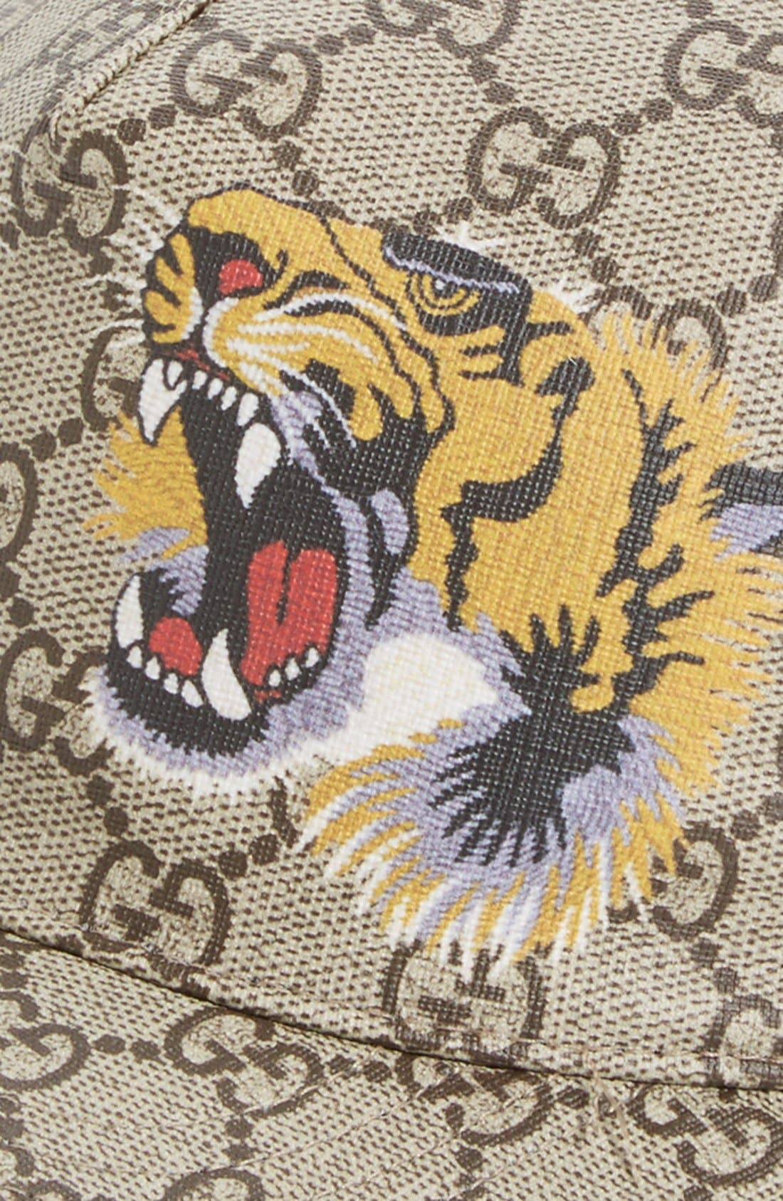 Tiger Logo Print Baseball Cap,                             Alternate thumbnail 2, color,                             204