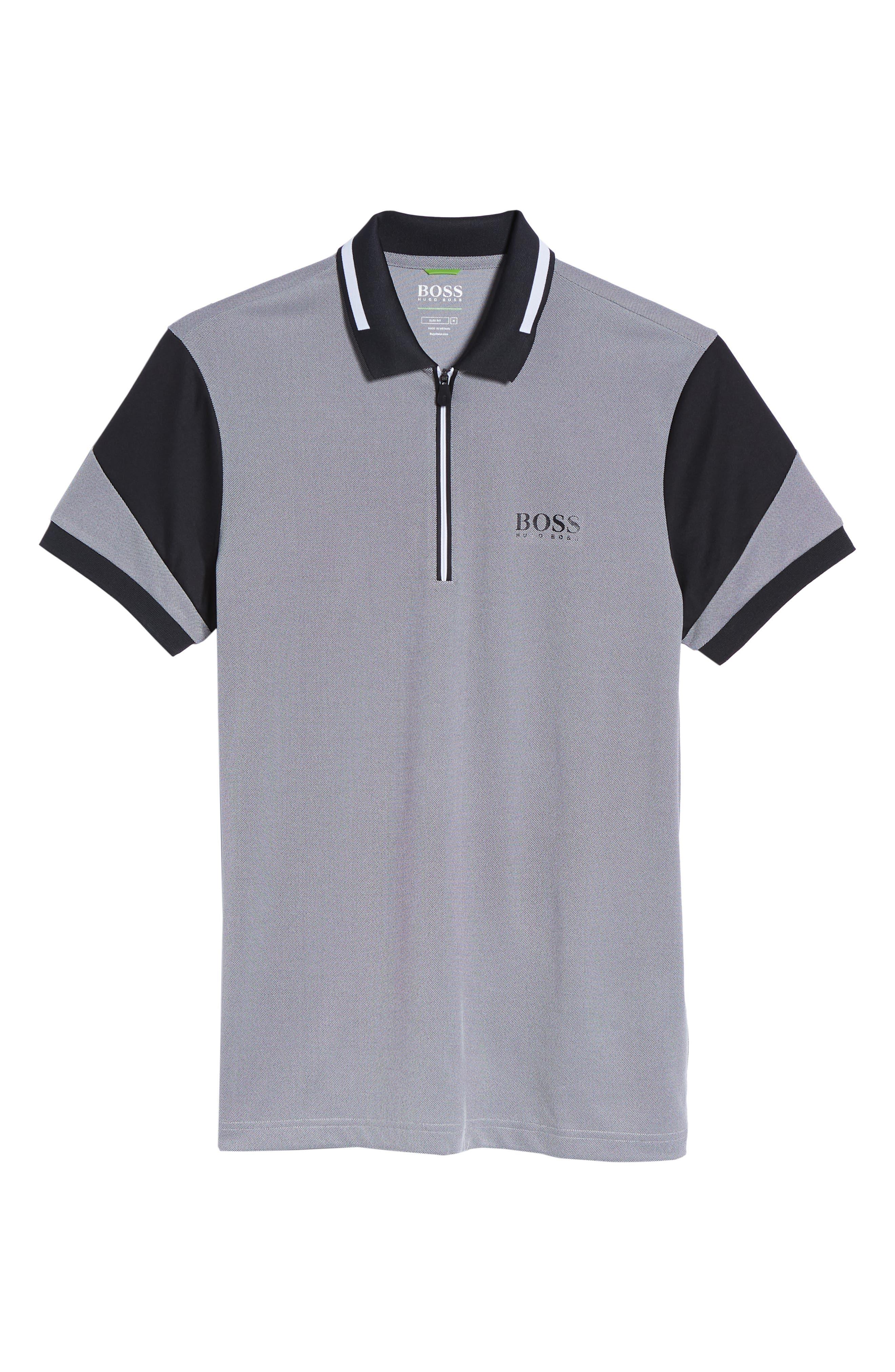 Pro Slim Fit Golf Polo,                             Alternate thumbnail 6, color,                             001