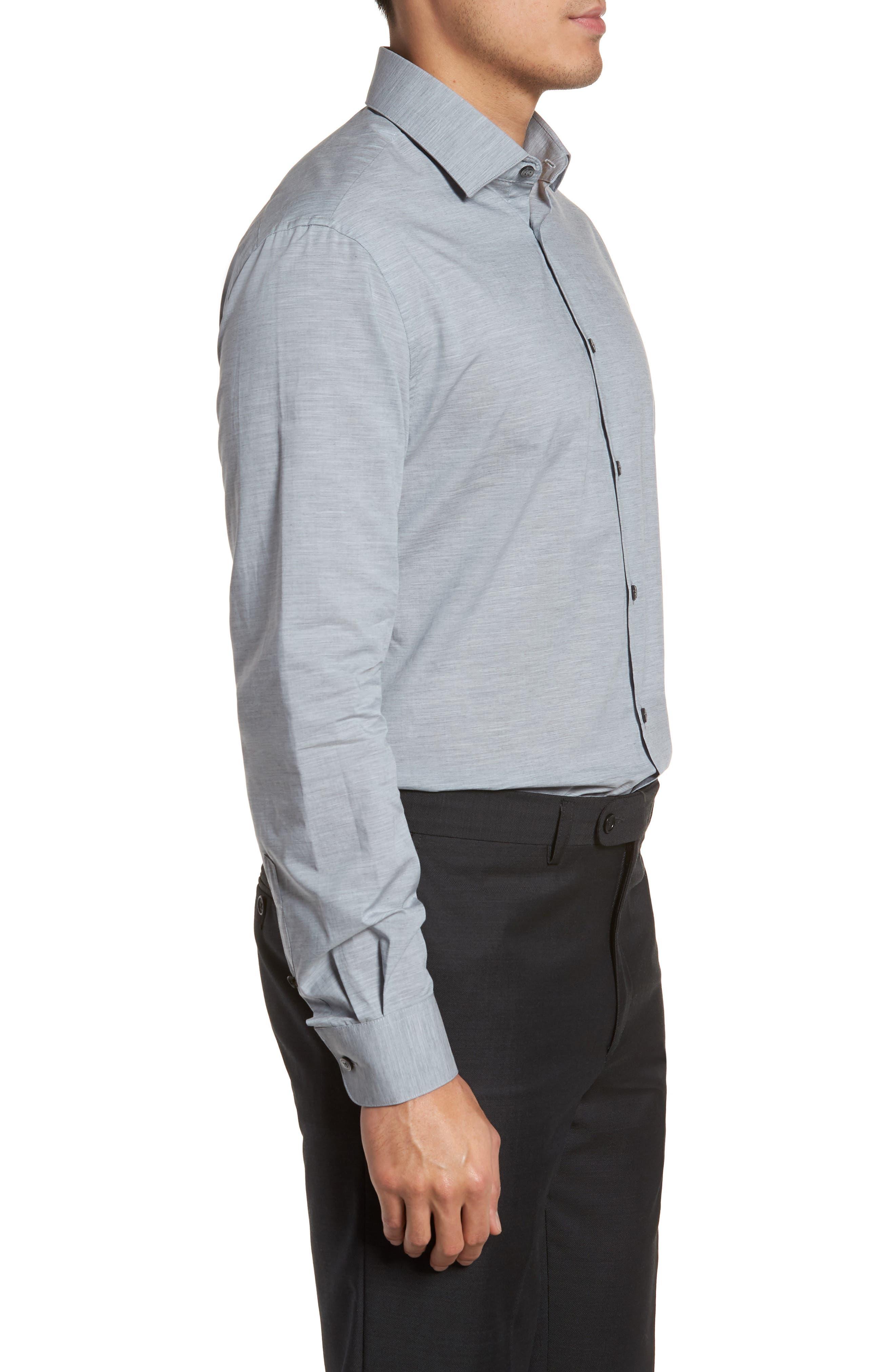 Slim Fit Stretch Solid Dress Shirt,                             Alternate thumbnail 4, color,                             432