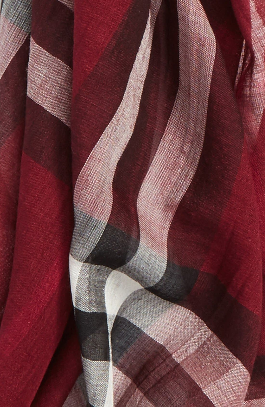 Giant Check Print Wool & Silk Scarf,                             Alternate thumbnail 138, color,