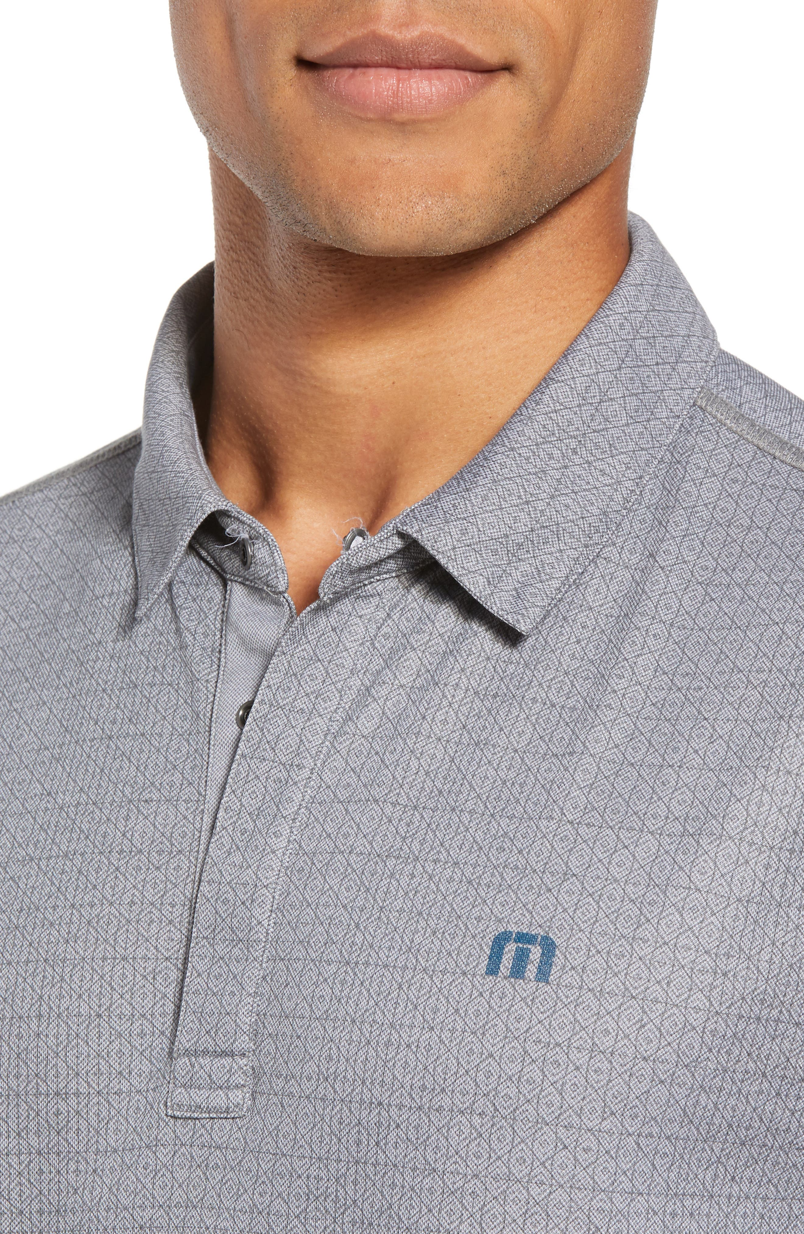 Reverse It Regular Fit Polo,                             Alternate thumbnail 4, color,                             HEATHER QUIET SHADE