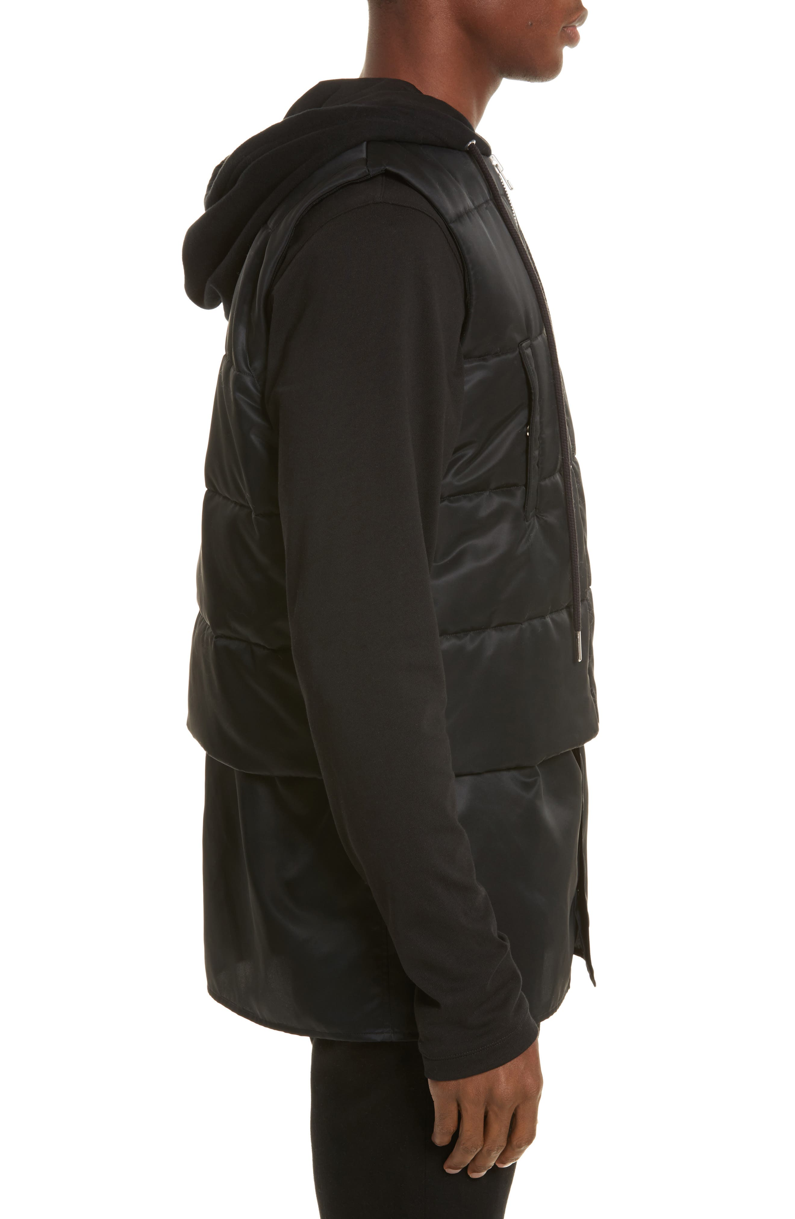 Hooded Puffer Vest,                             Alternate thumbnail 3, color,                             001