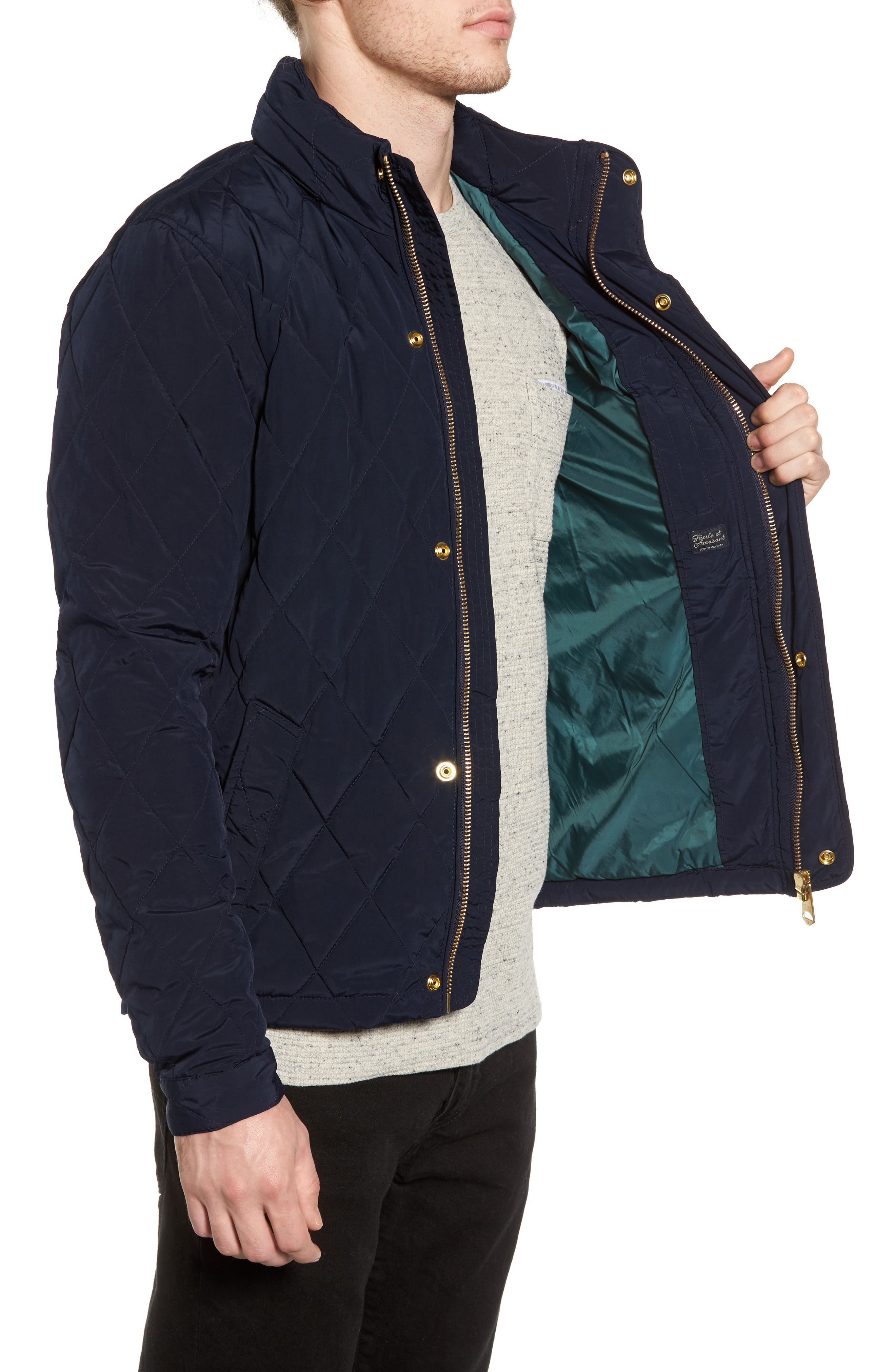 Lightweight Quilted Jacket,                             Alternate thumbnail 6, color,