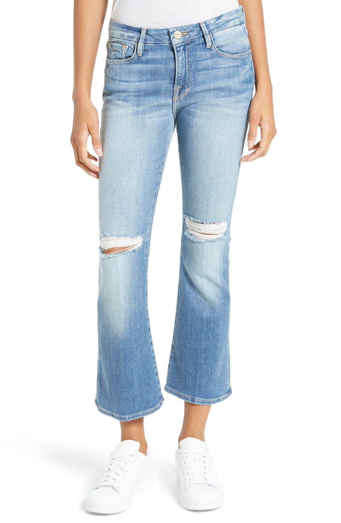 Le Crop Mini Boot Jeans,                             Alternate thumbnail 5, color,