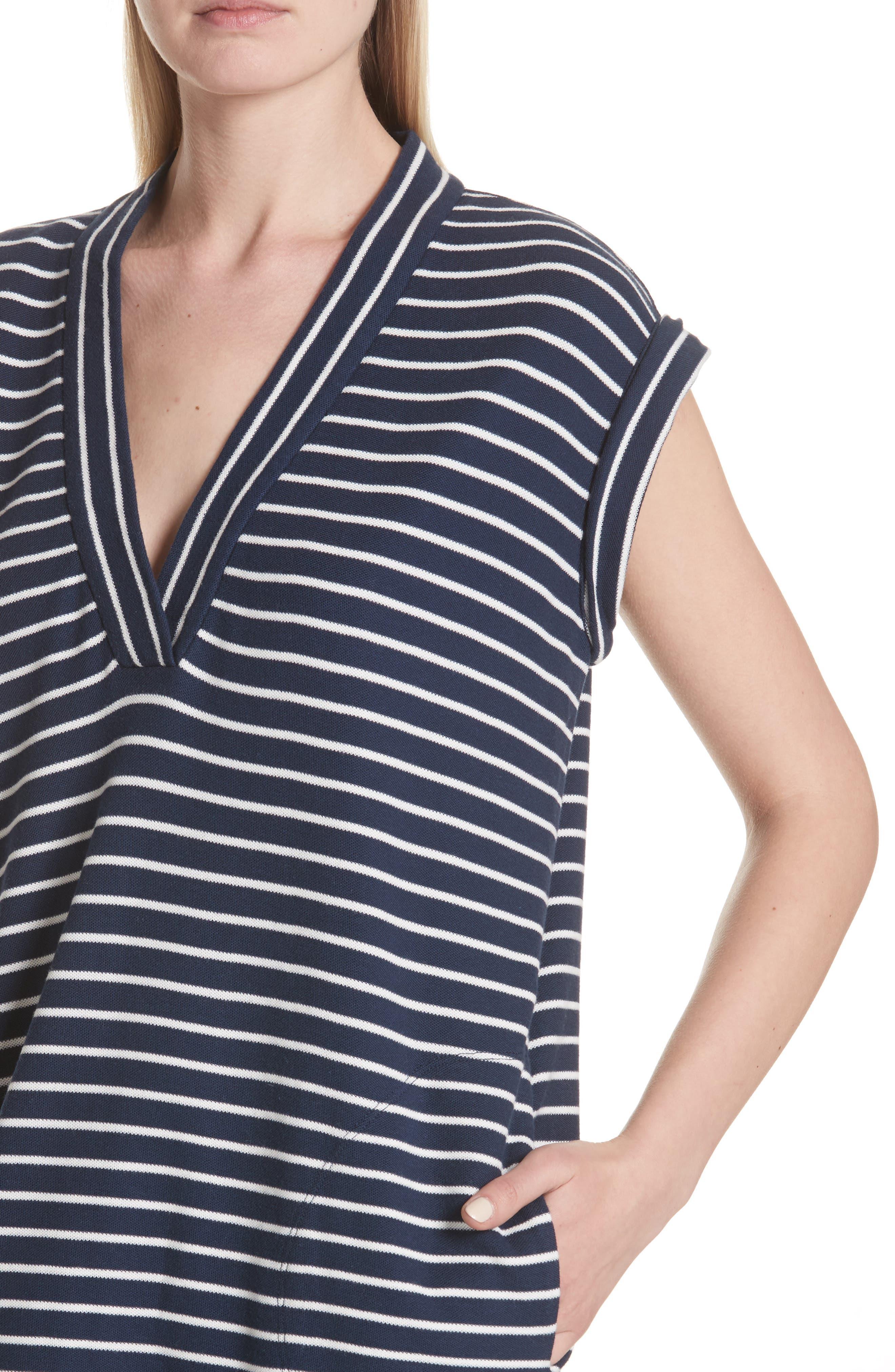 Stripe Shift Dress,                             Alternate thumbnail 4, color,