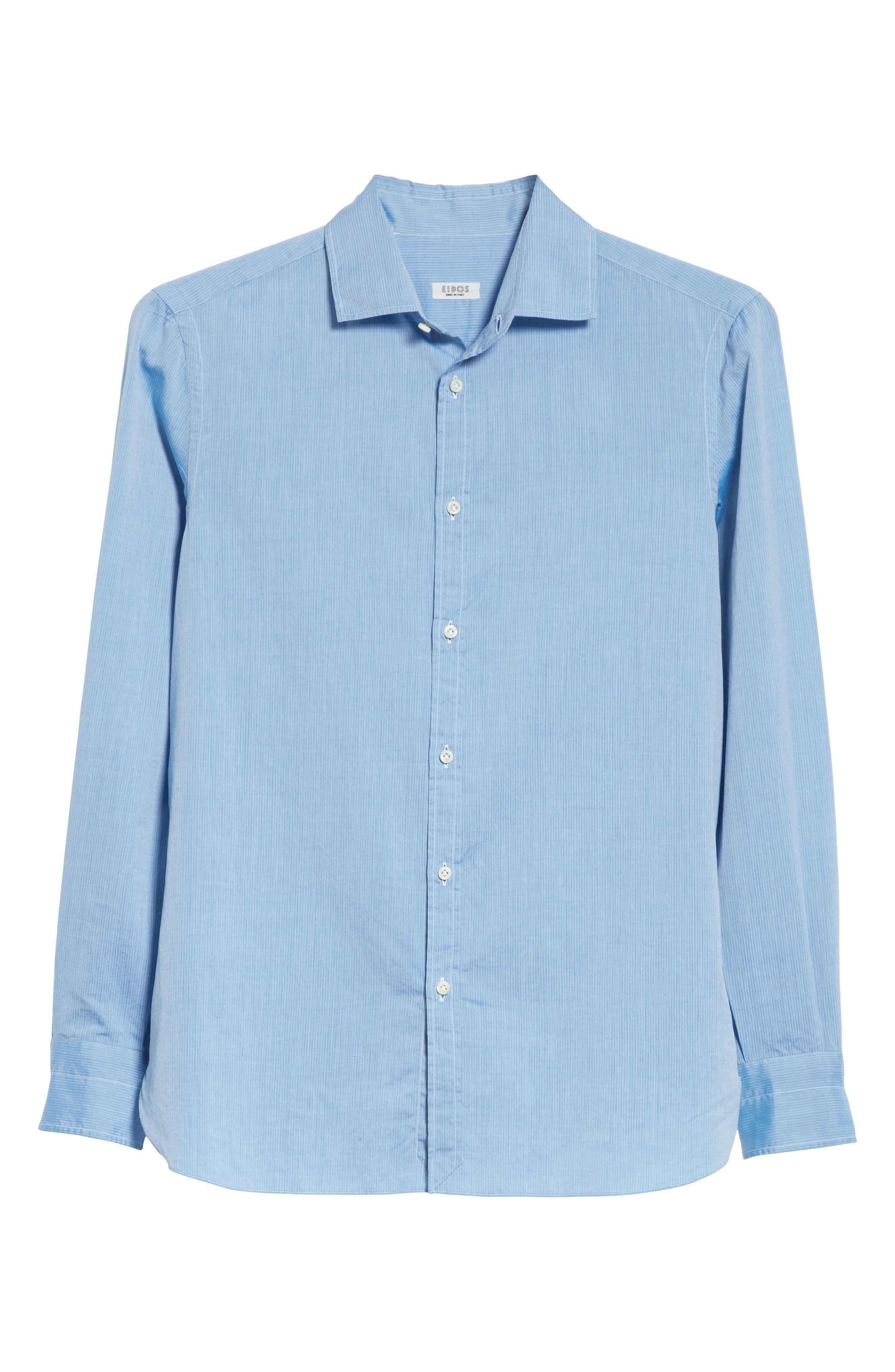 Napoli JB Washed Stripe Sport Shirt,                             Alternate thumbnail 6, color,                             400