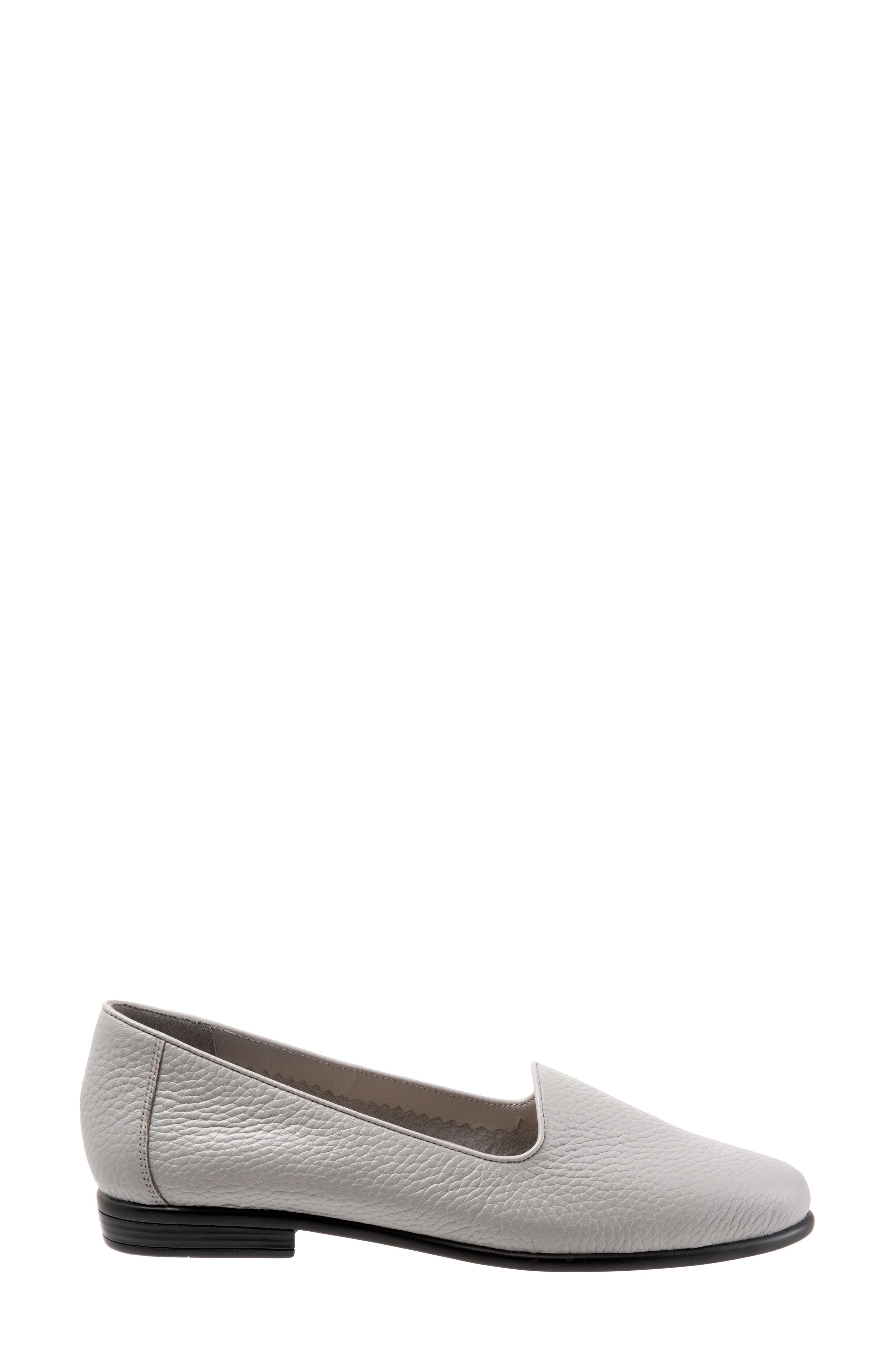 TROTTERS,                             Liz Loafer,                             Alternate thumbnail 3, color,                             GREY LEATHER