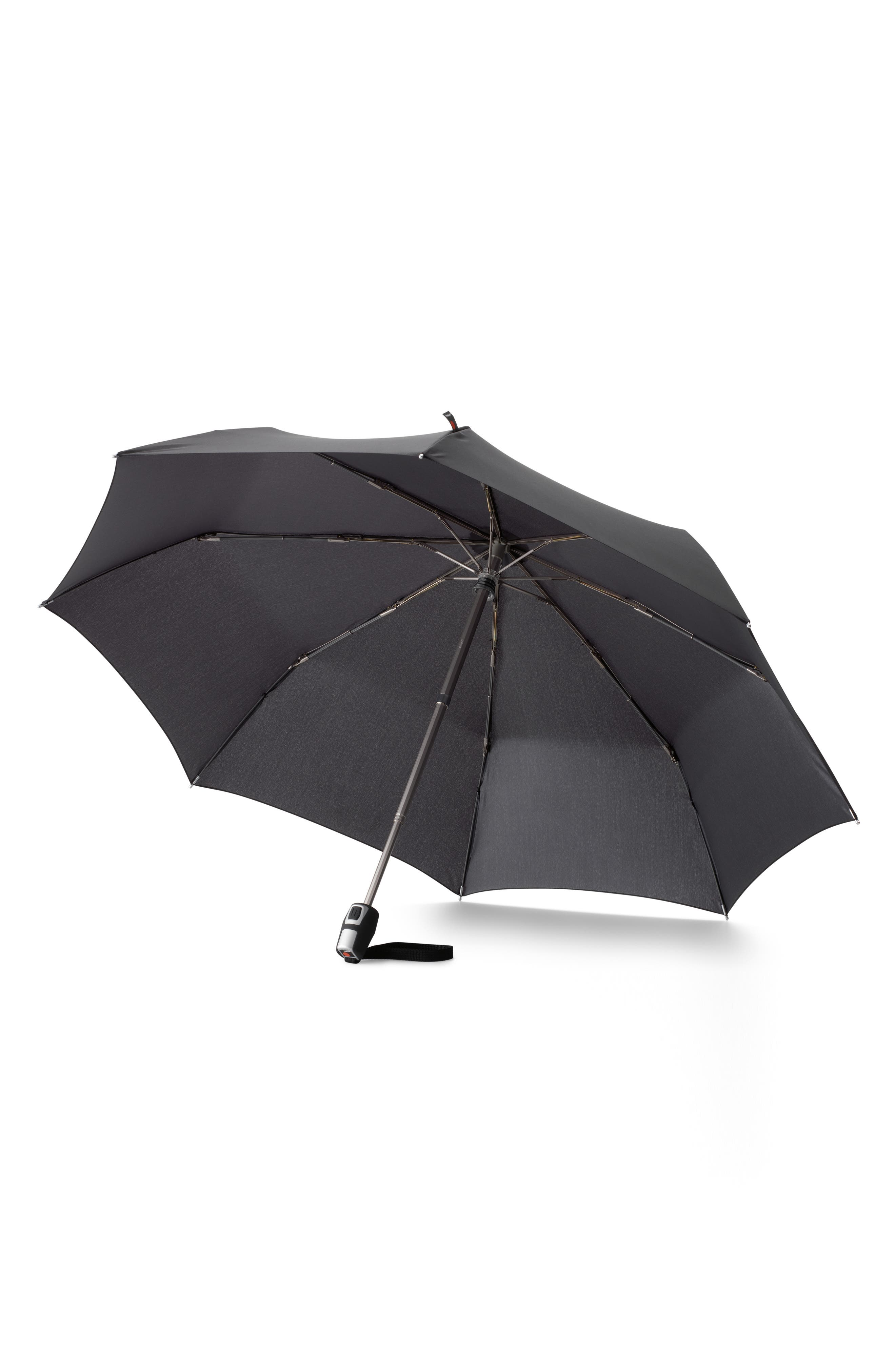 T200 Auto Open/Close Umbrella,                             Alternate thumbnail 3, color,                             BLACK