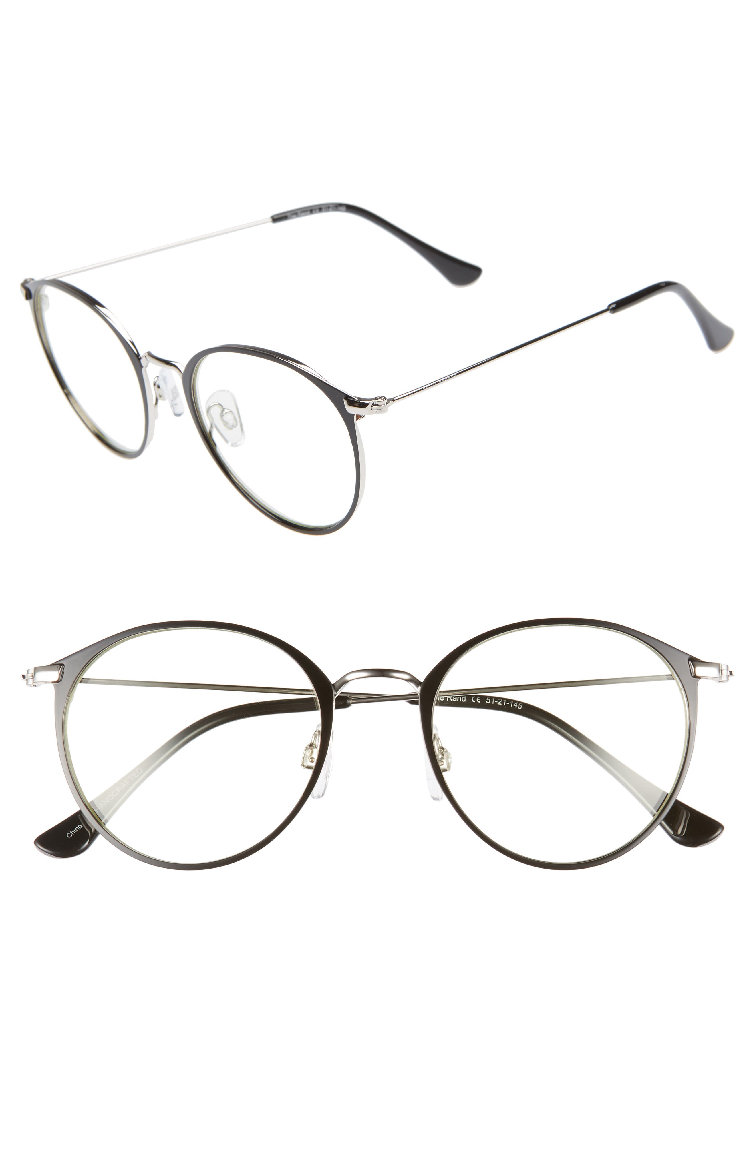 The Rand 51mm Blue Light Blocking Glasses,                             Main thumbnail 1, color,                             002