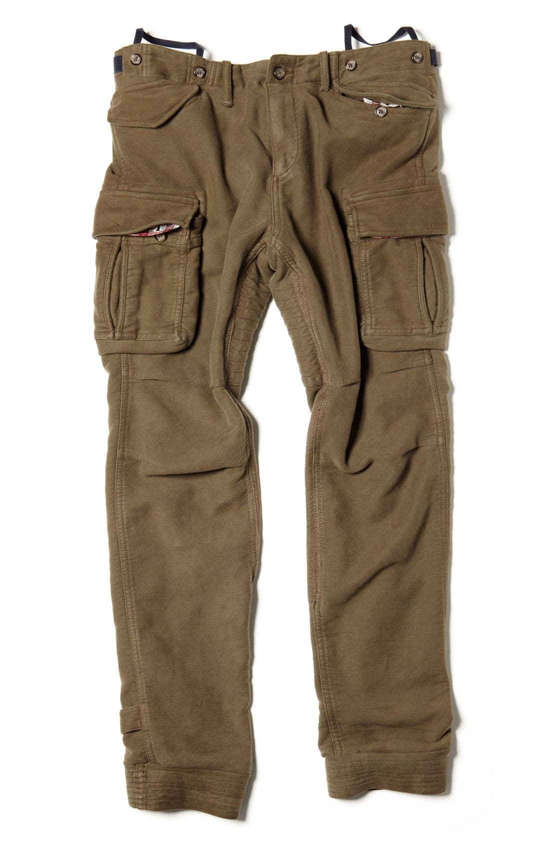 Skinny Moleskin Cotton Cargo Pants,                             Alternate thumbnail 5, color,                             301
