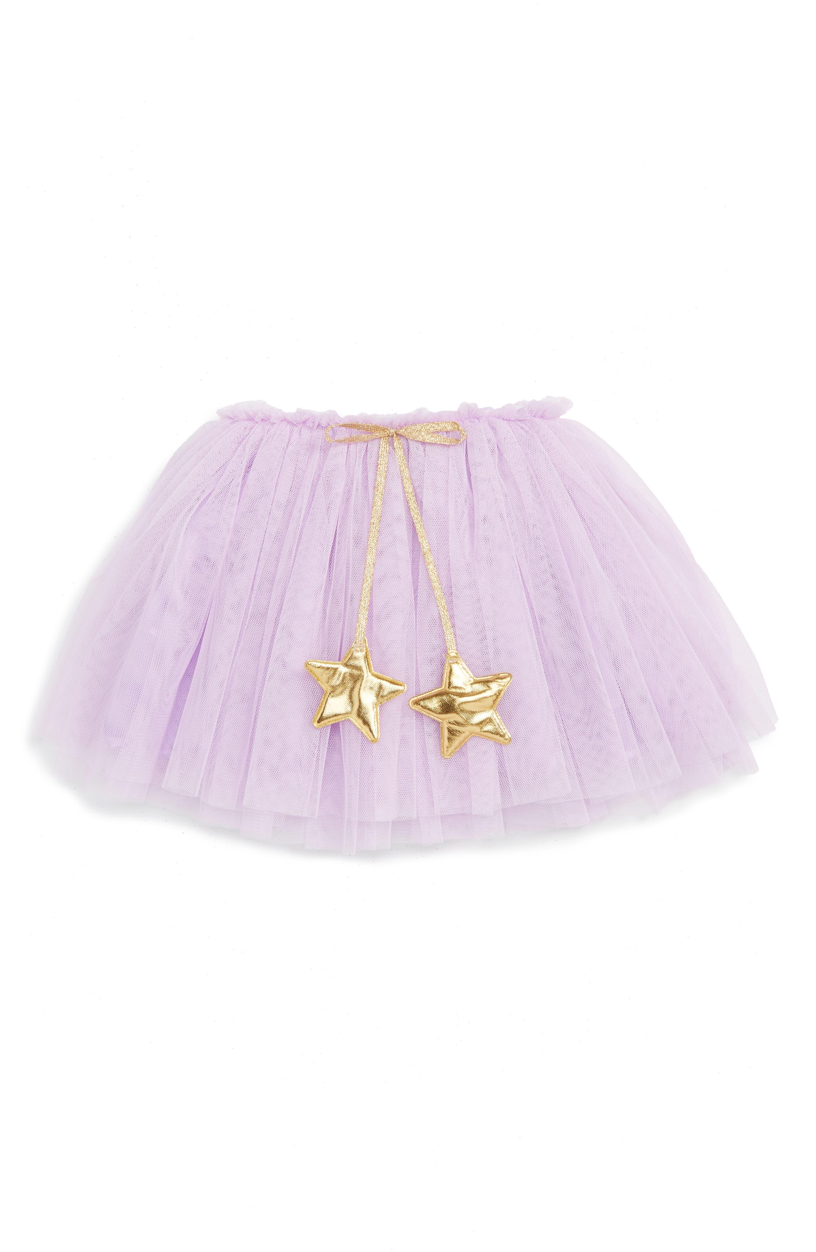 Gold Star Tutu Skirt,                             Main thumbnail 1, color,                             PURPLE
