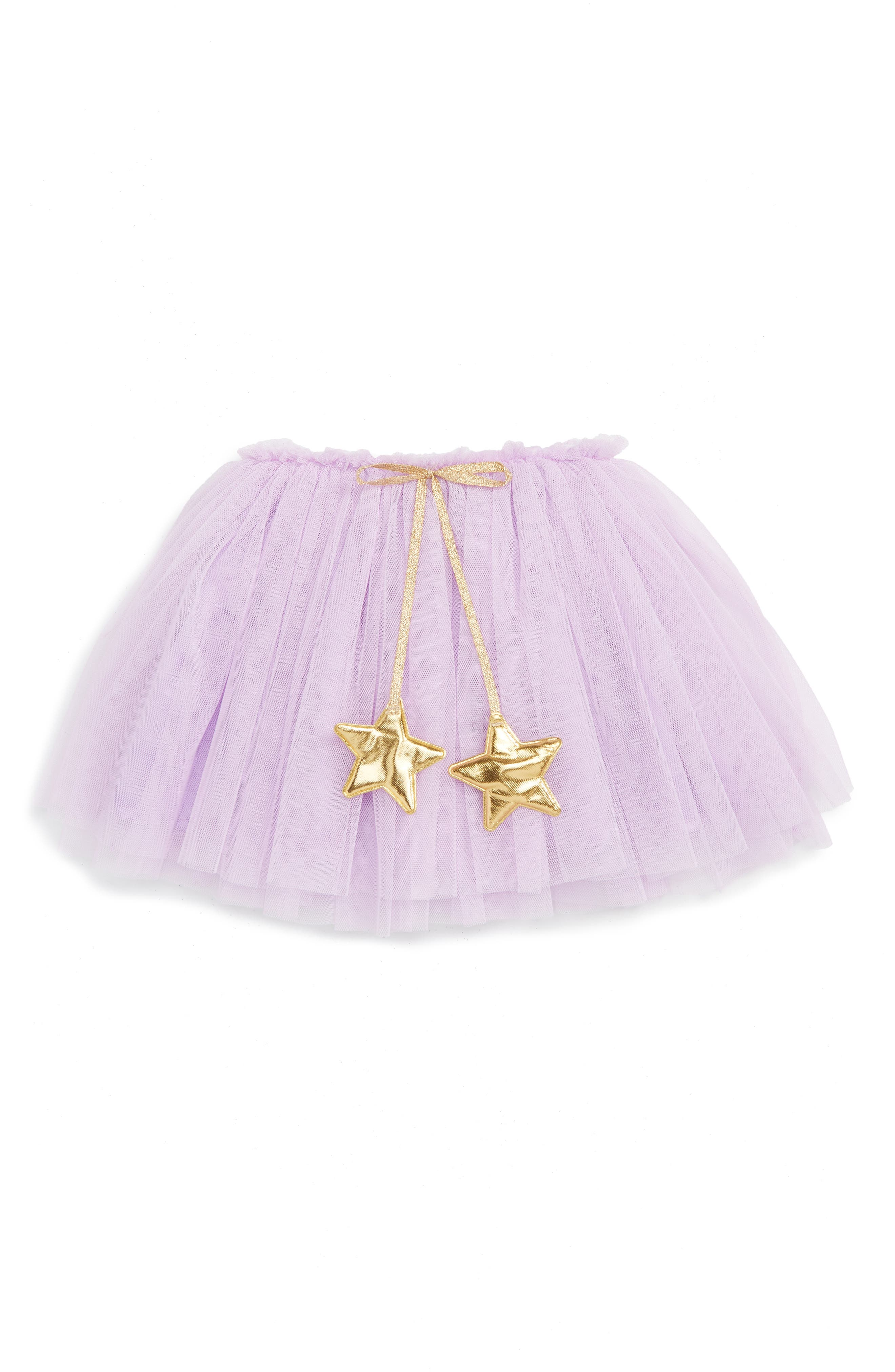 Gold Star Tutu Skirt,                         Main,                         color, PURPLE
