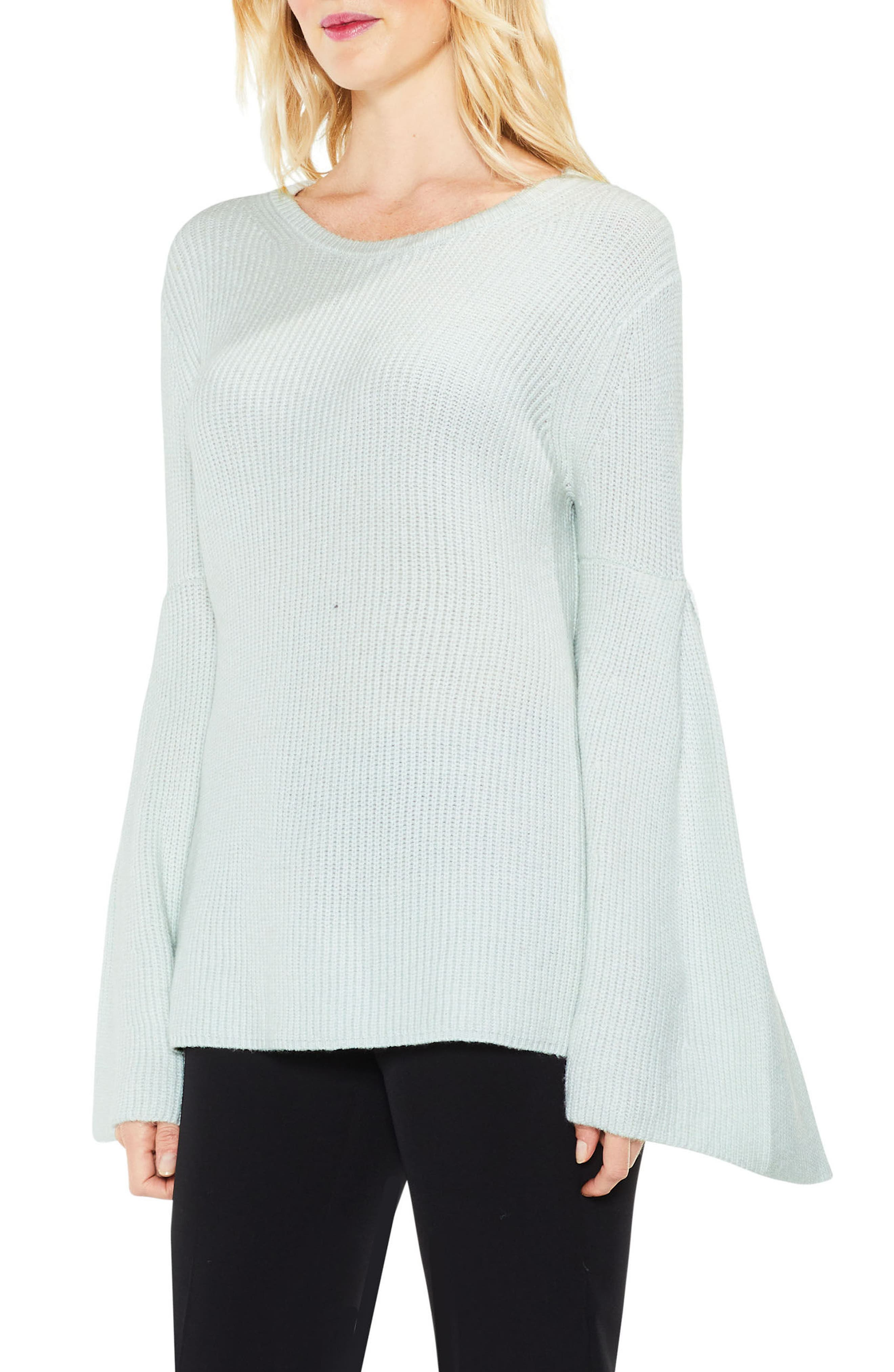 All Over Rib Bell Sleeve Sweater,                             Main thumbnail 4, color,