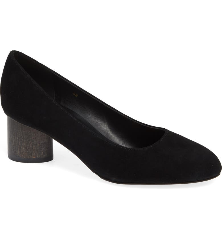 Poncia Pump,                         Main,                         color, BLACK SUEDE