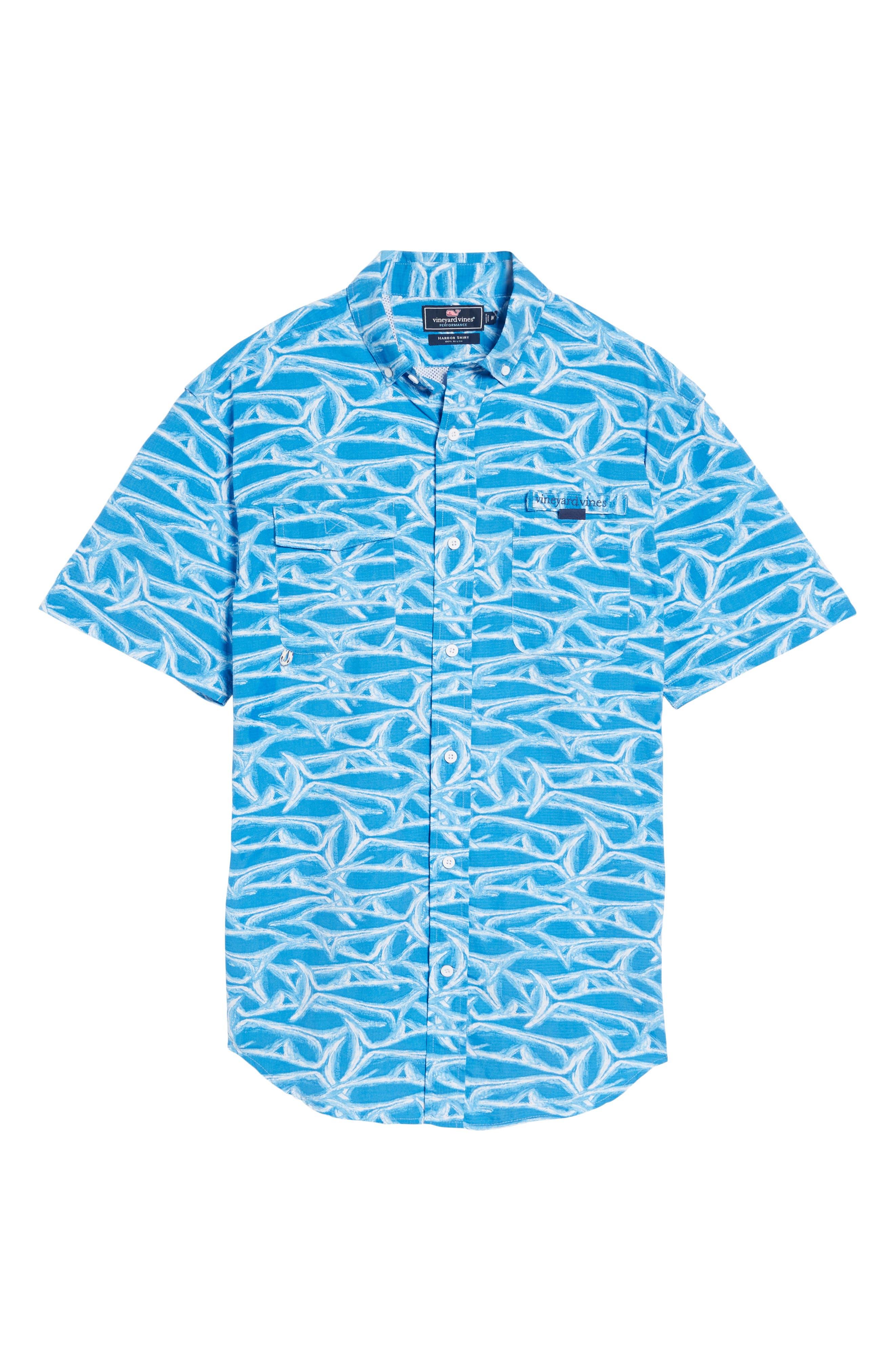 Harbor Brushed Marlin Fishing Shirt,                             Alternate thumbnail 6, color,                             496