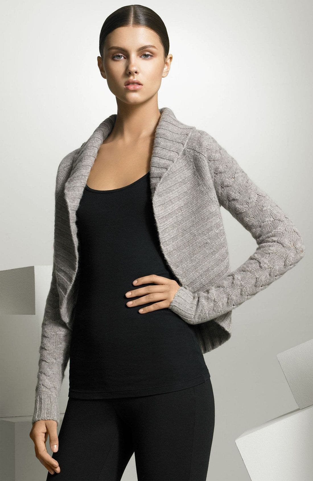 Cable Knit Shrug, Main, color, 265