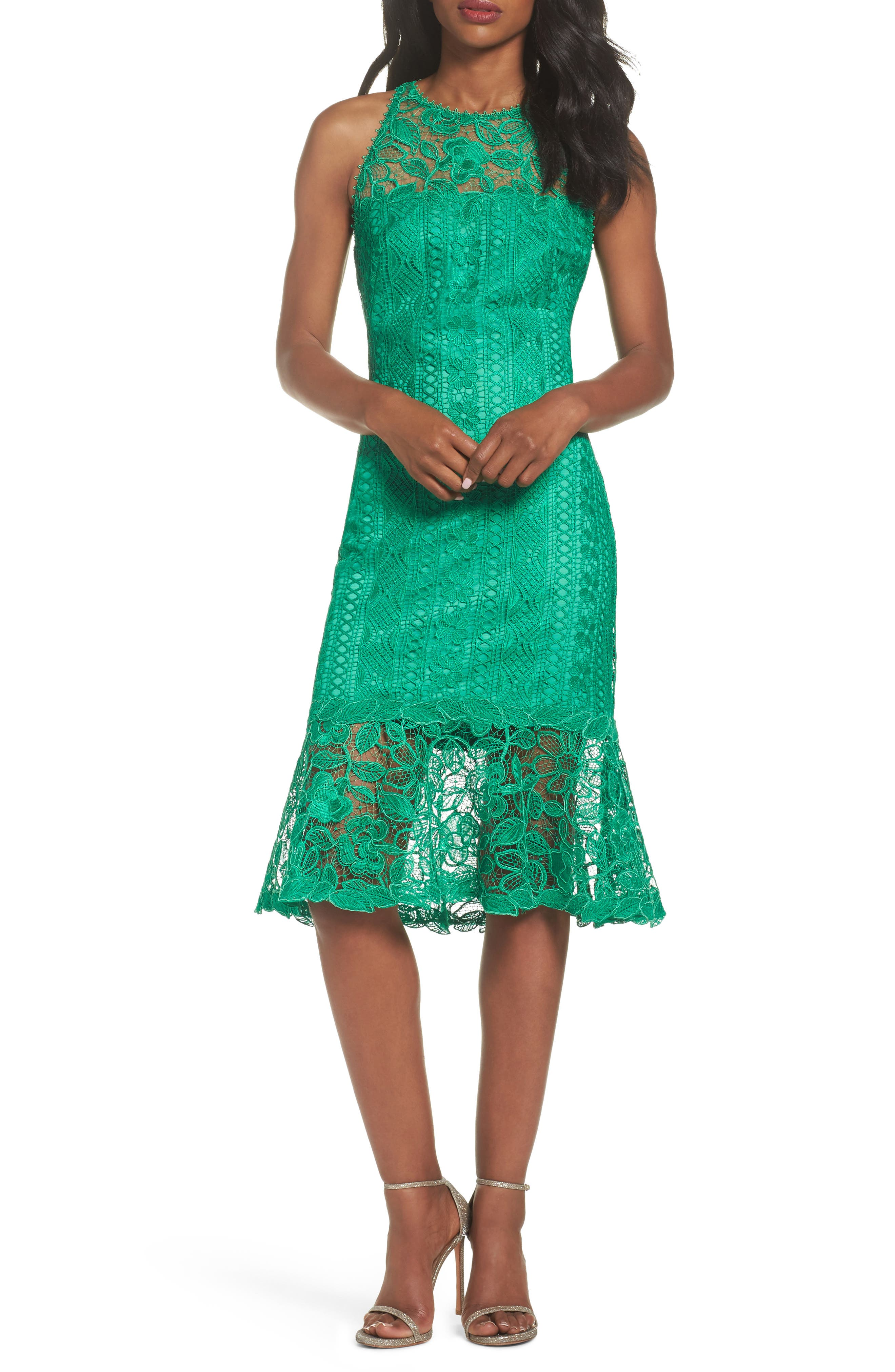 Lace Shift Dress,                             Alternate thumbnail 5, color,                             346