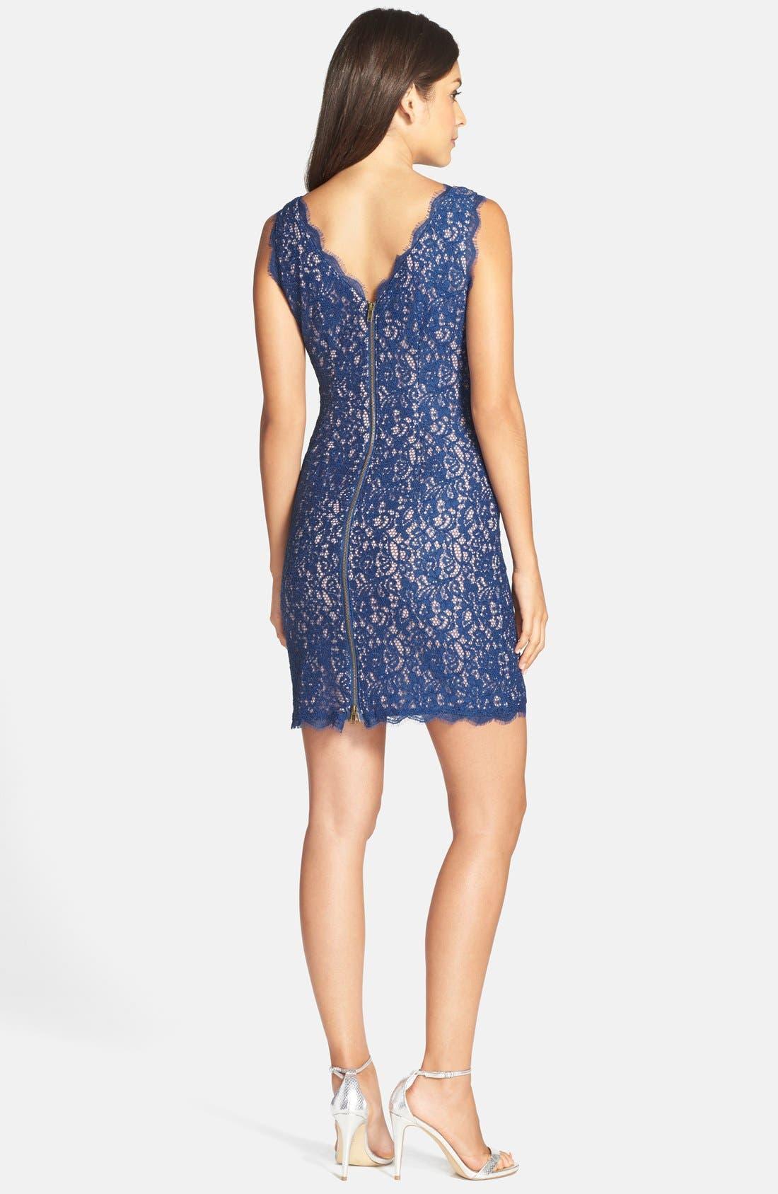 Boatneck Lace Sheath Dress,                             Alternate thumbnail 160, color,