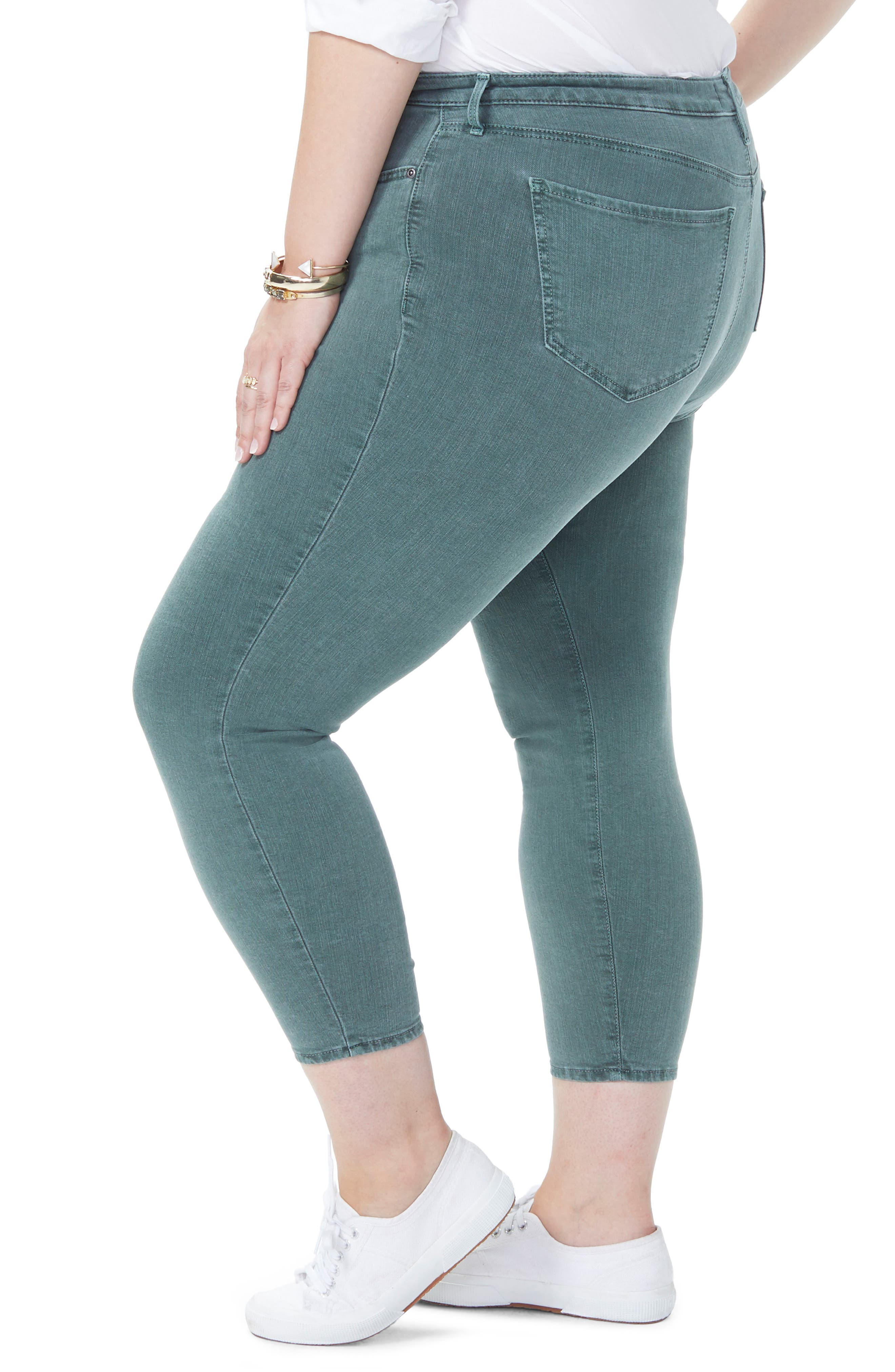Ami Stretch Ankle Skinny Jeans,                             Alternate thumbnail 3, color,                             SUGAR PINE